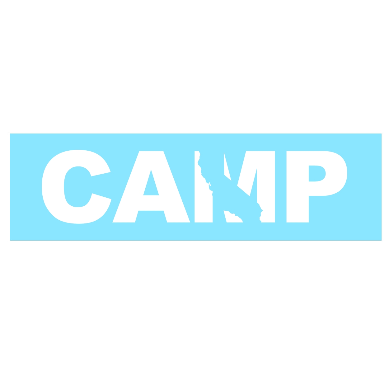 Camp California Classic Decal (White Logo)