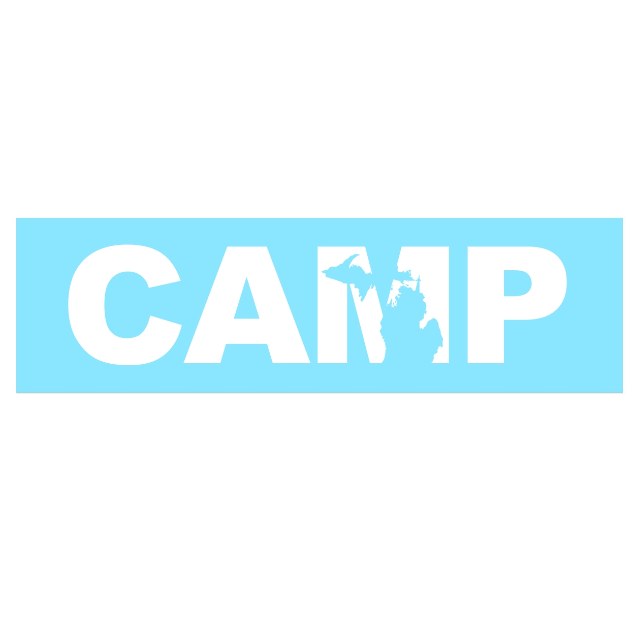 Camp Michigan Classic Decal (White Logo)