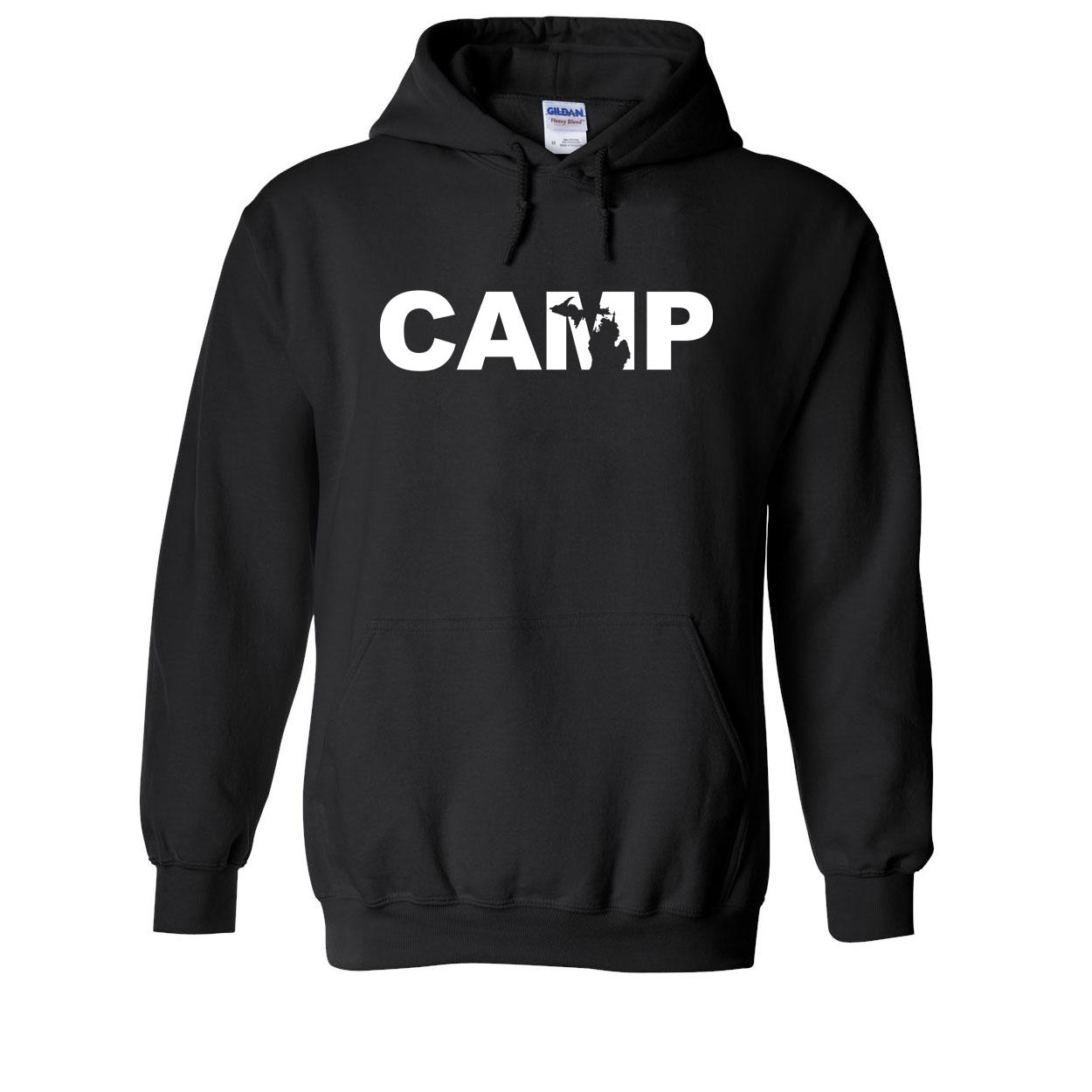 Camp Michigan Classic Sweatshirt Black (White Logo)
