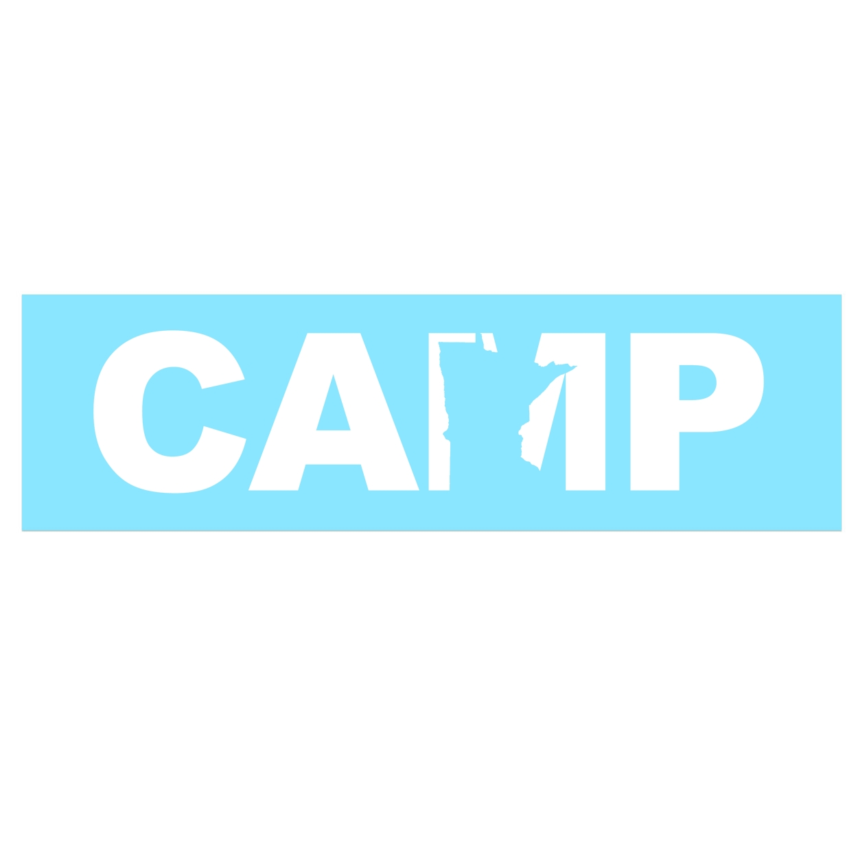 Camp Minnesota Classic Decal (White Logo)