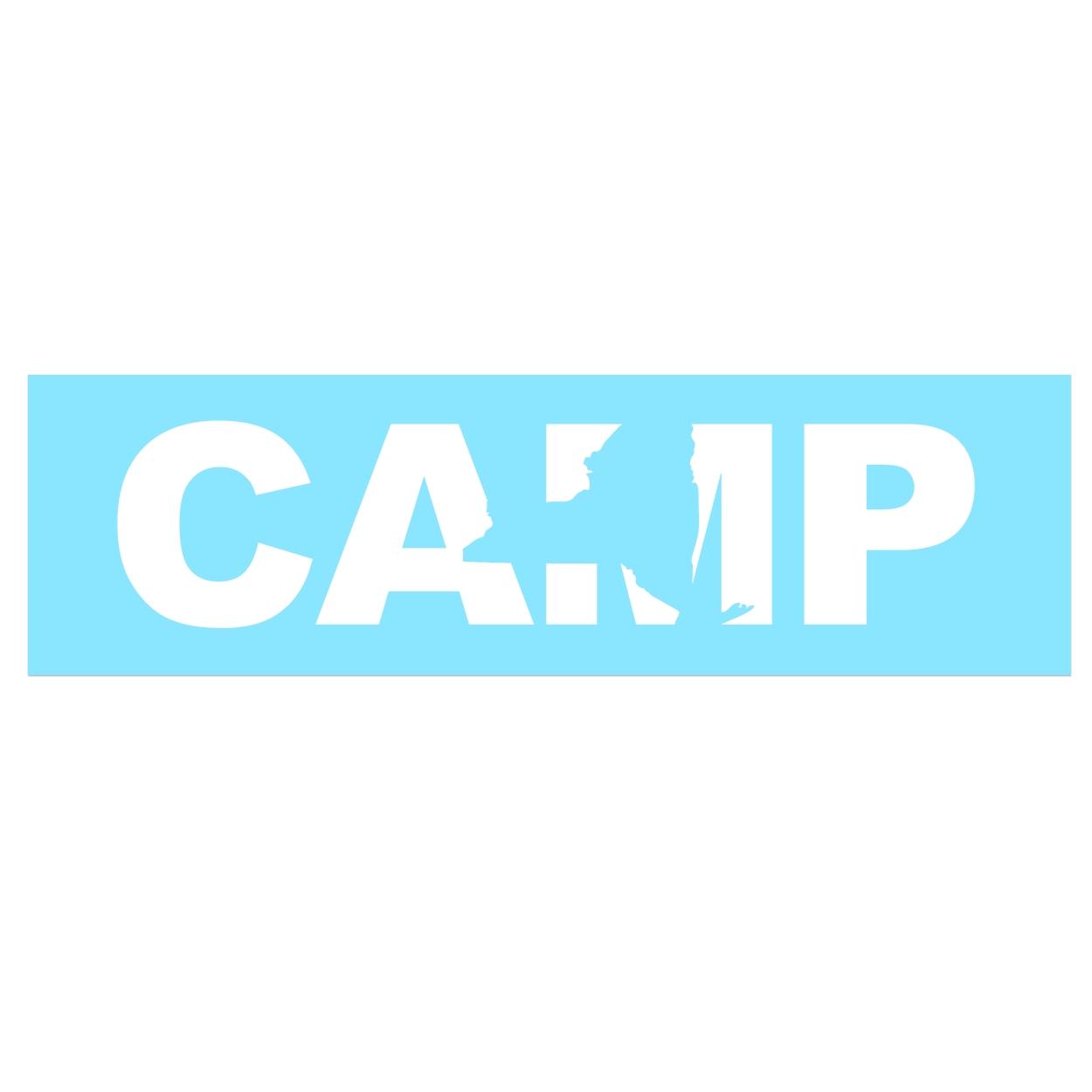 Camp New York Classic Decal (White Logo)