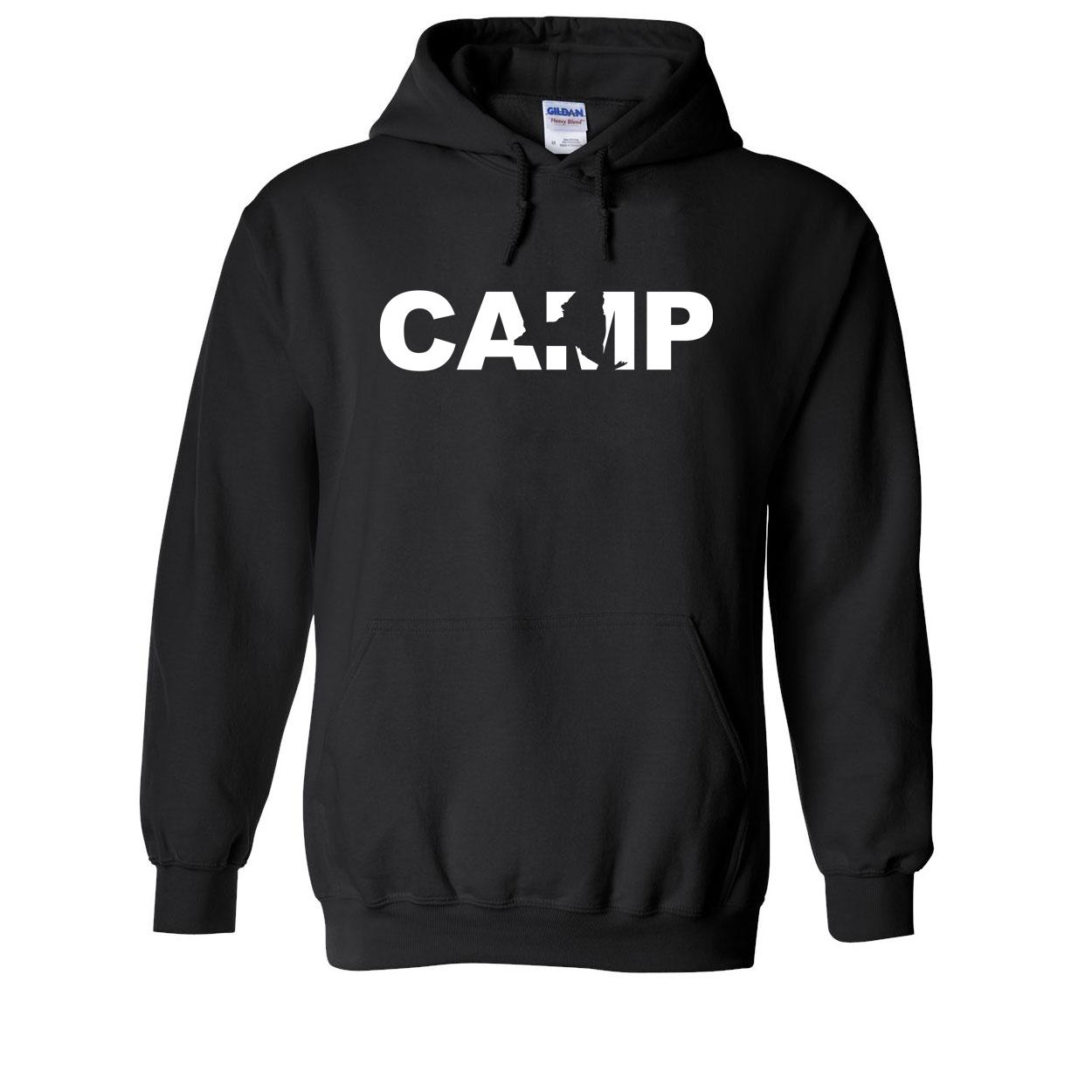 Camp New York Classic Sweatshirt Black (White Logo)