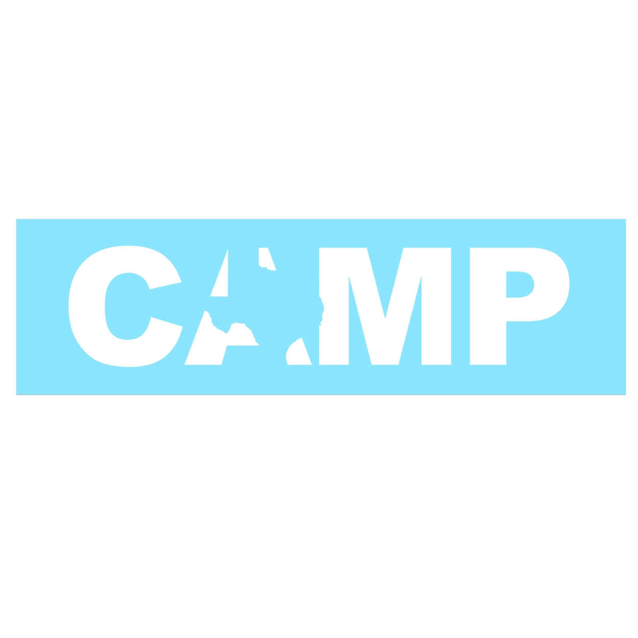 Camp Texas Classic Decal (White Logo)
