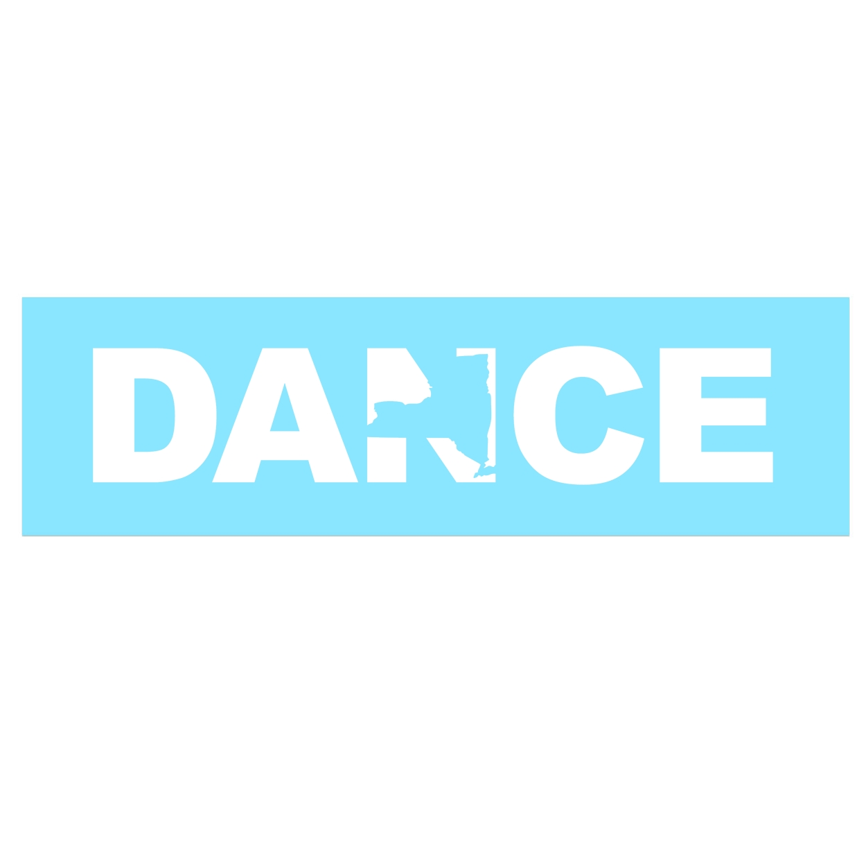 Dance New York Classic Decal (White Logo)