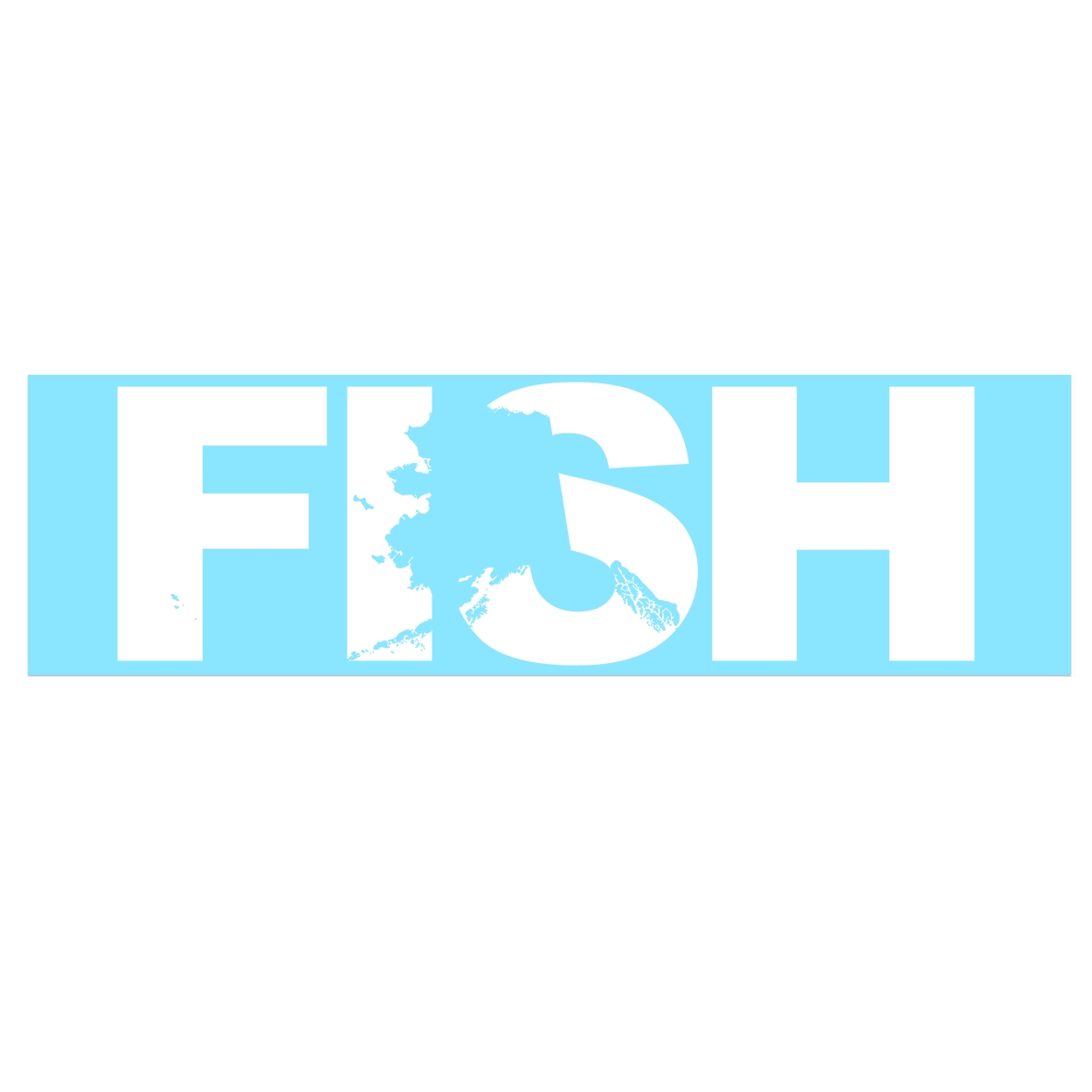 Fish Alaska Classic Decal (White Logo)