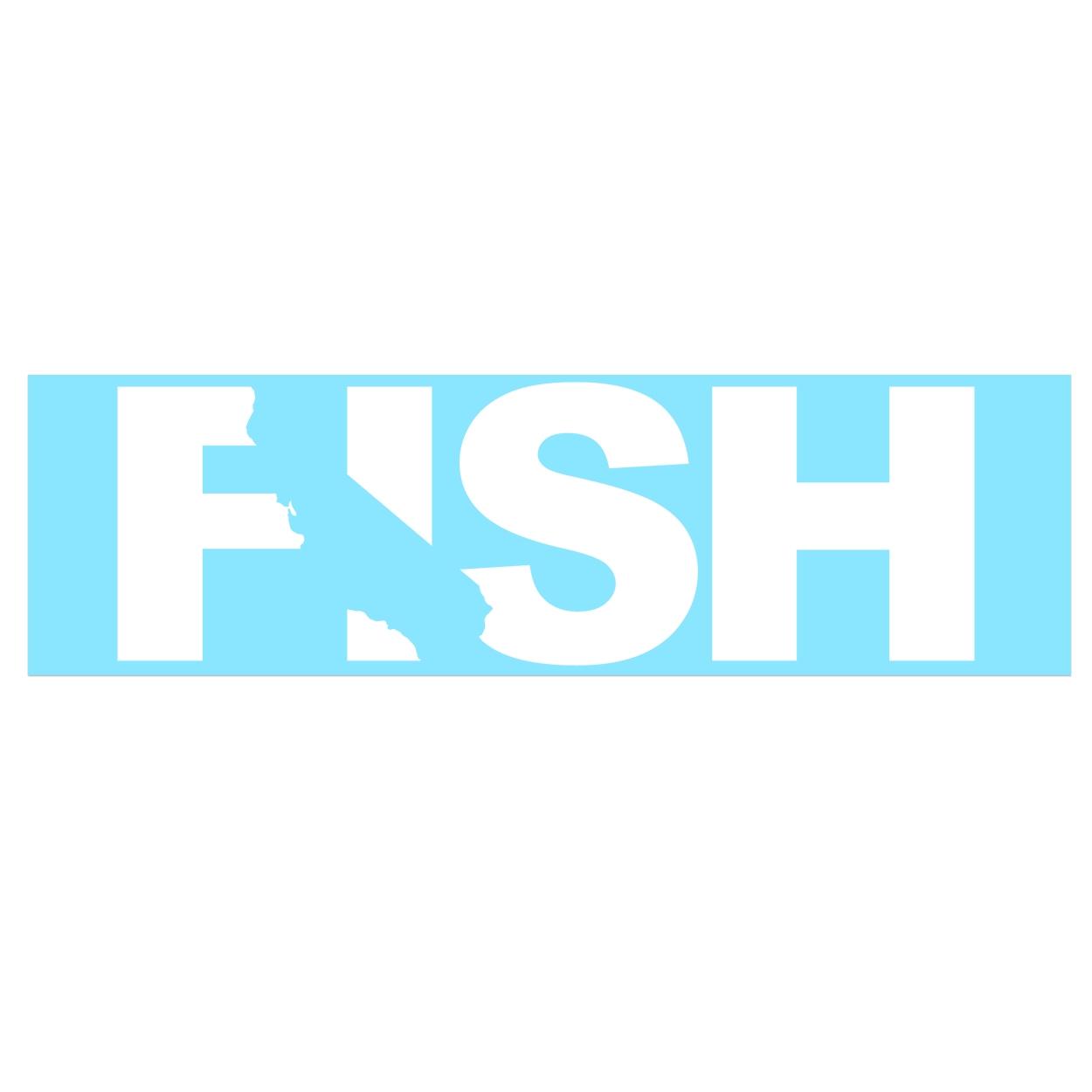 Fish California Classic Decal (White Logo)