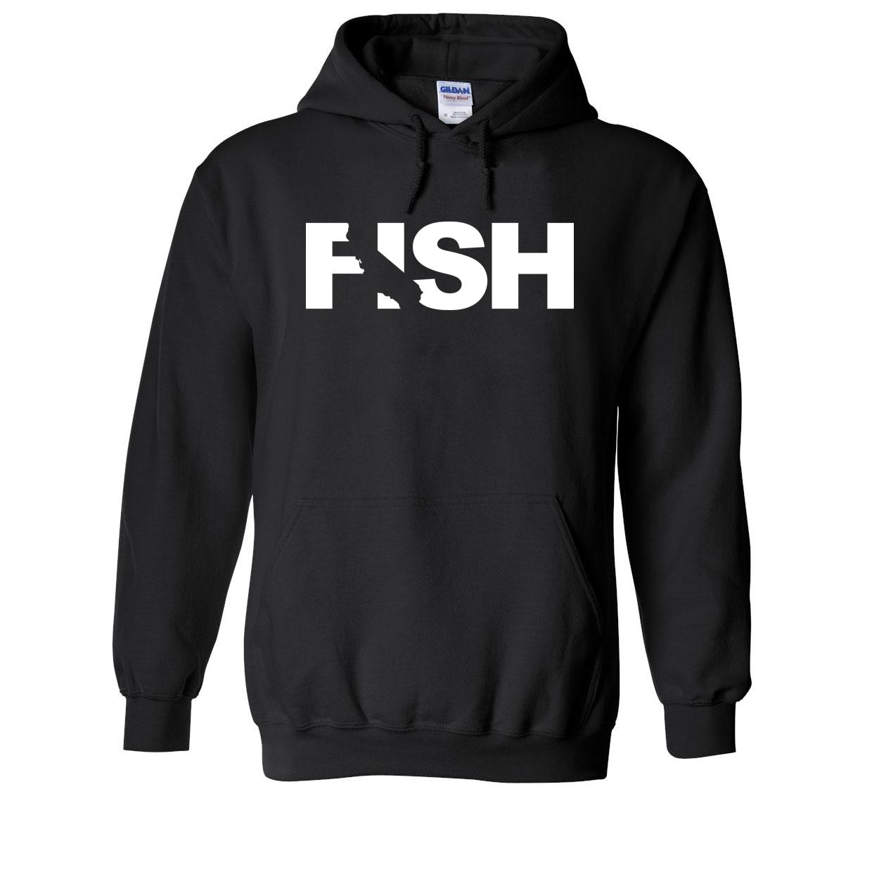 Fish California Classic Sweatshirt Black (White Logo)