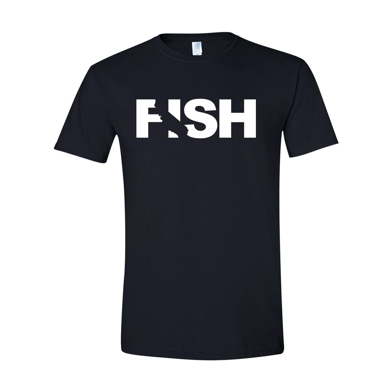 Fish California Classic T-Shirt Black (White Logo)