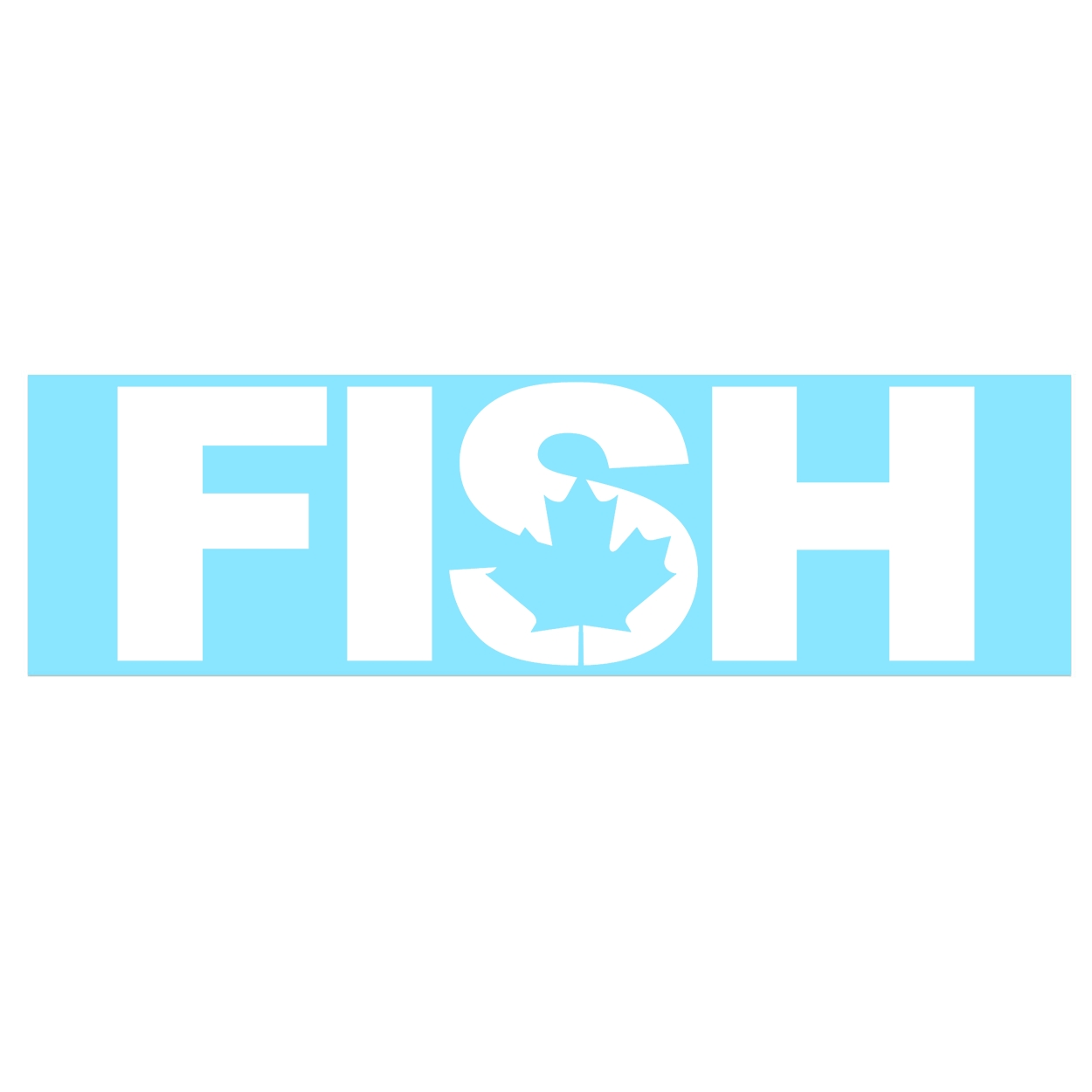 Fish Canada Classic Decal (White Logo)