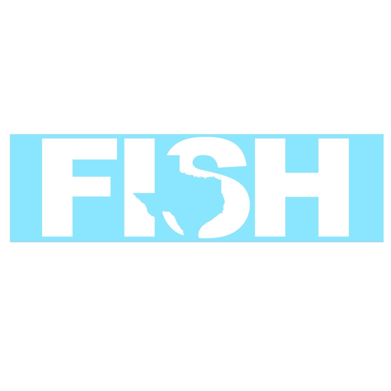 Fish Texas Classic Decal (White Logo)