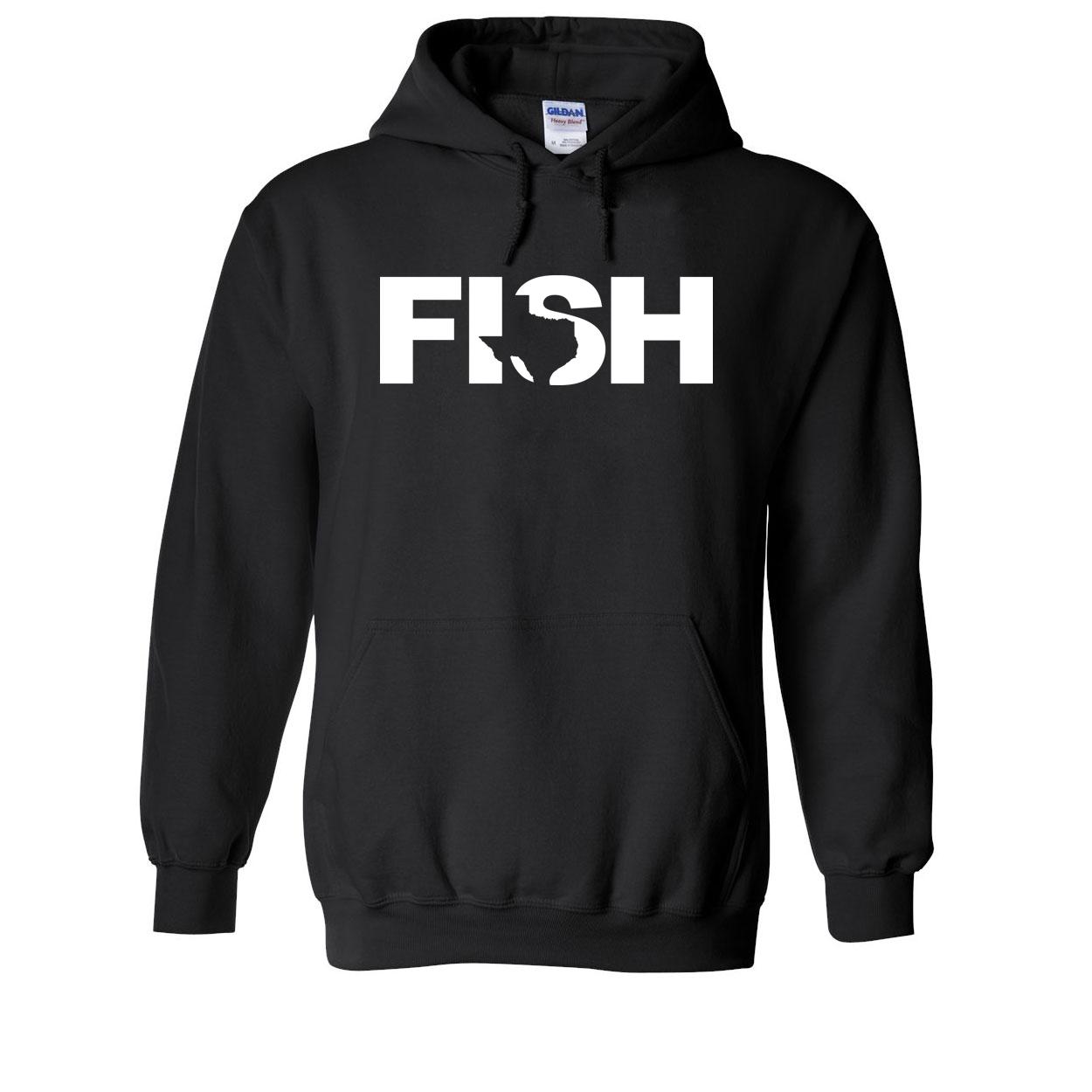 Fish Texas Classic Sweatshirt Black (White Logo)