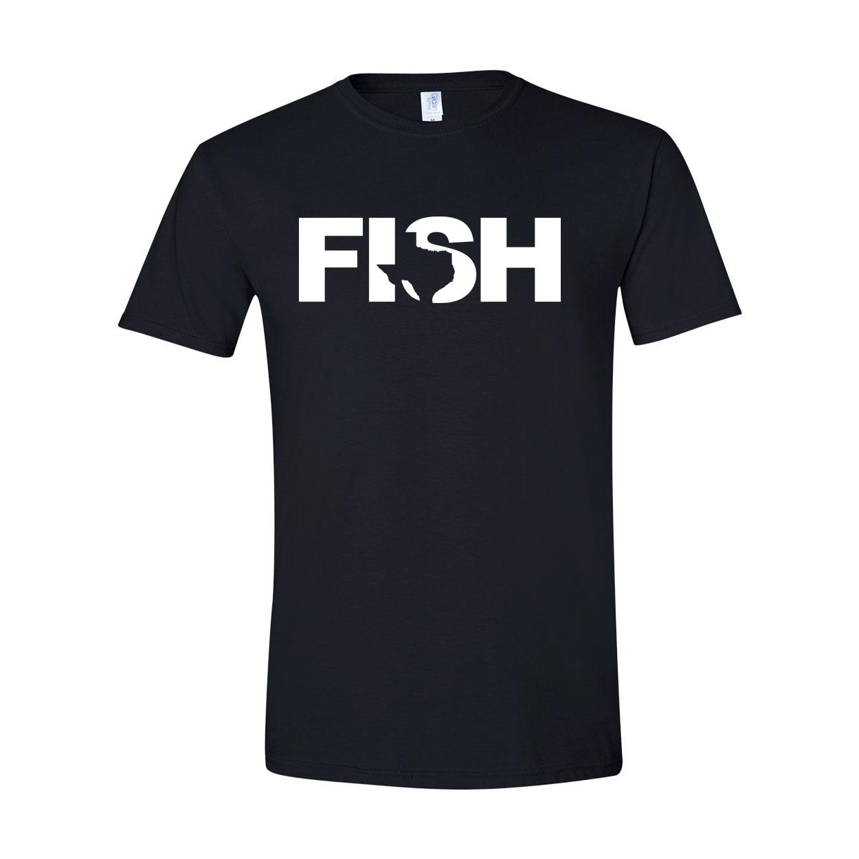 Fish Texas Classic T-Shirt Black (White Logo)