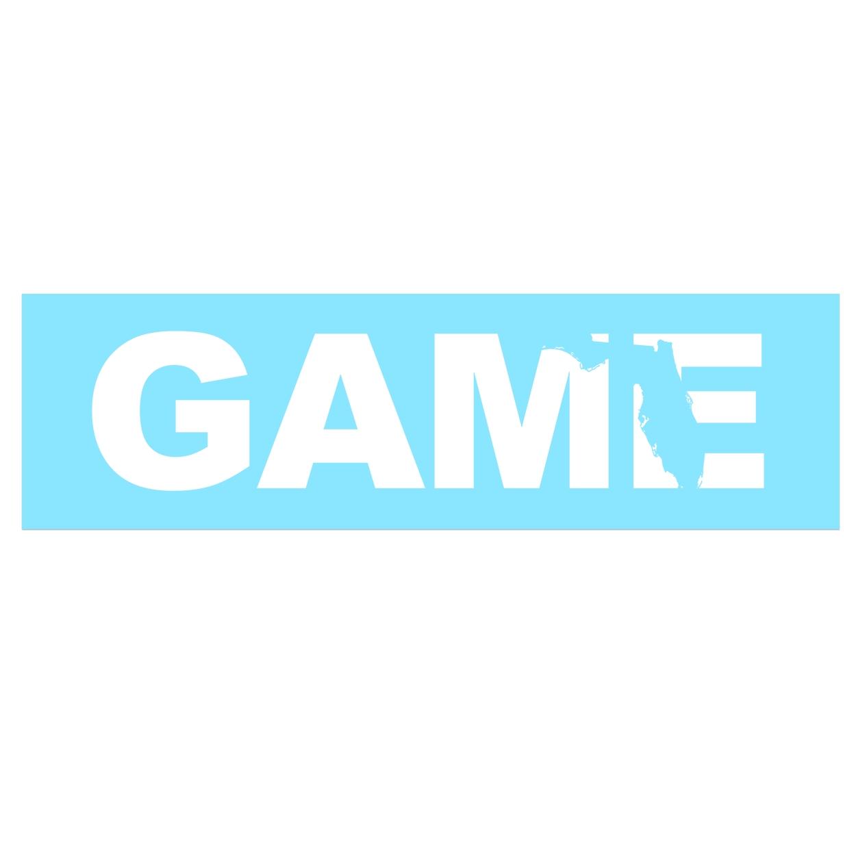 Game Florida Classic Decal (White Logo)