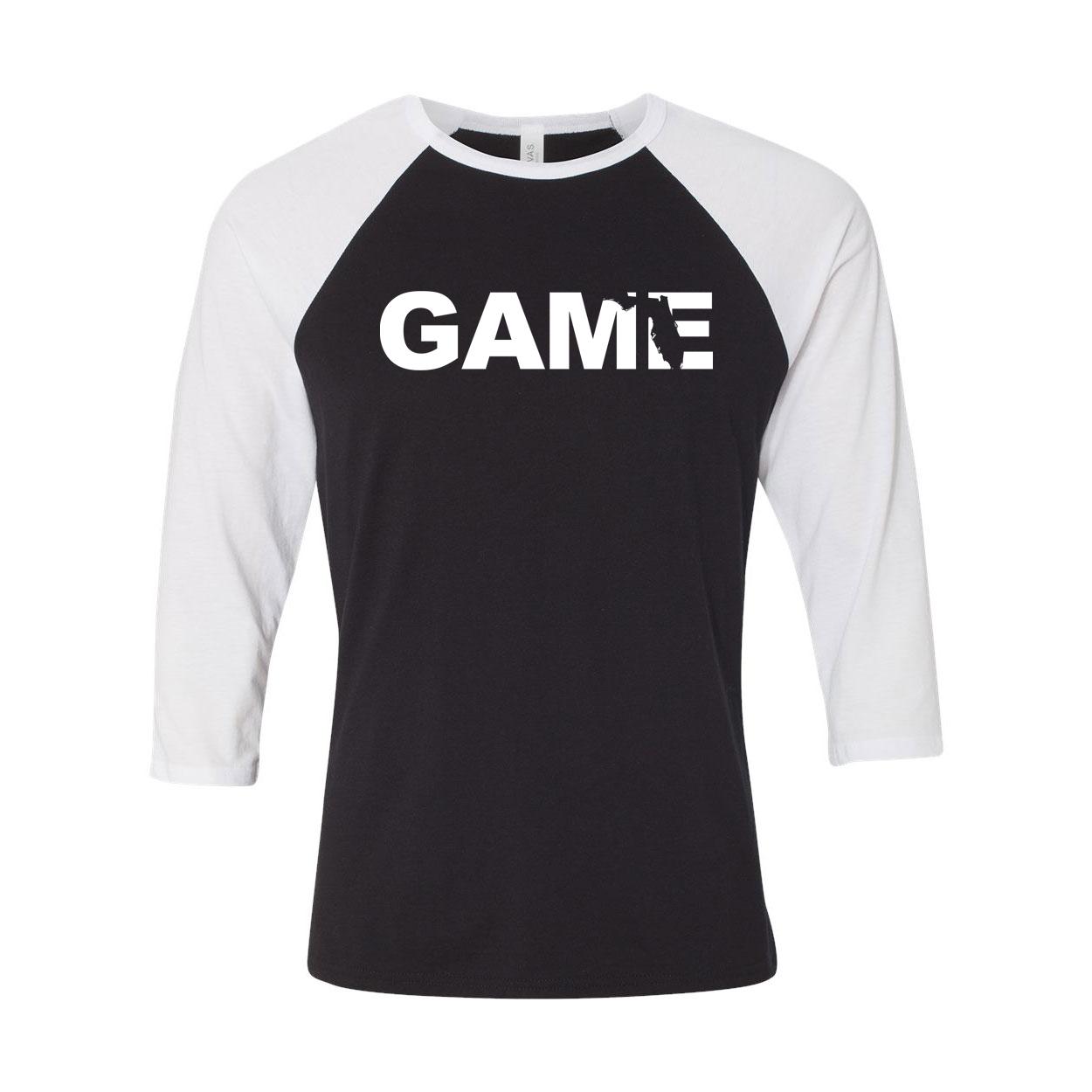 Game Florida Classic Raglan Shirt Black/White (White Logo)
