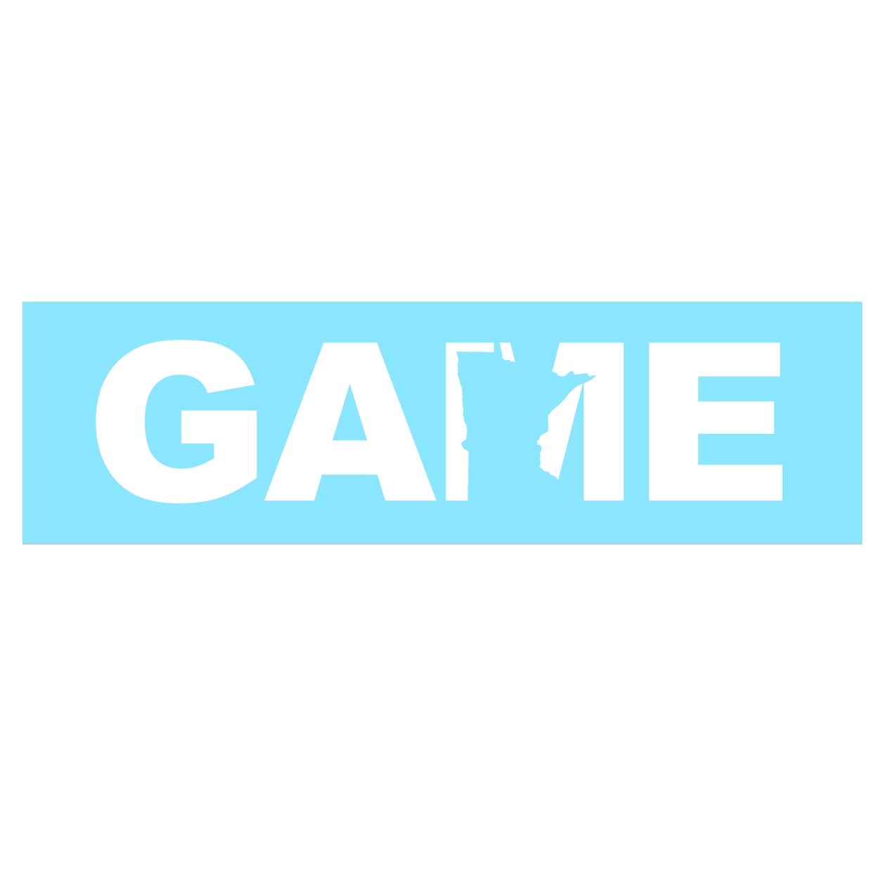 Game Minnesota Classic Decal (White Logo)
