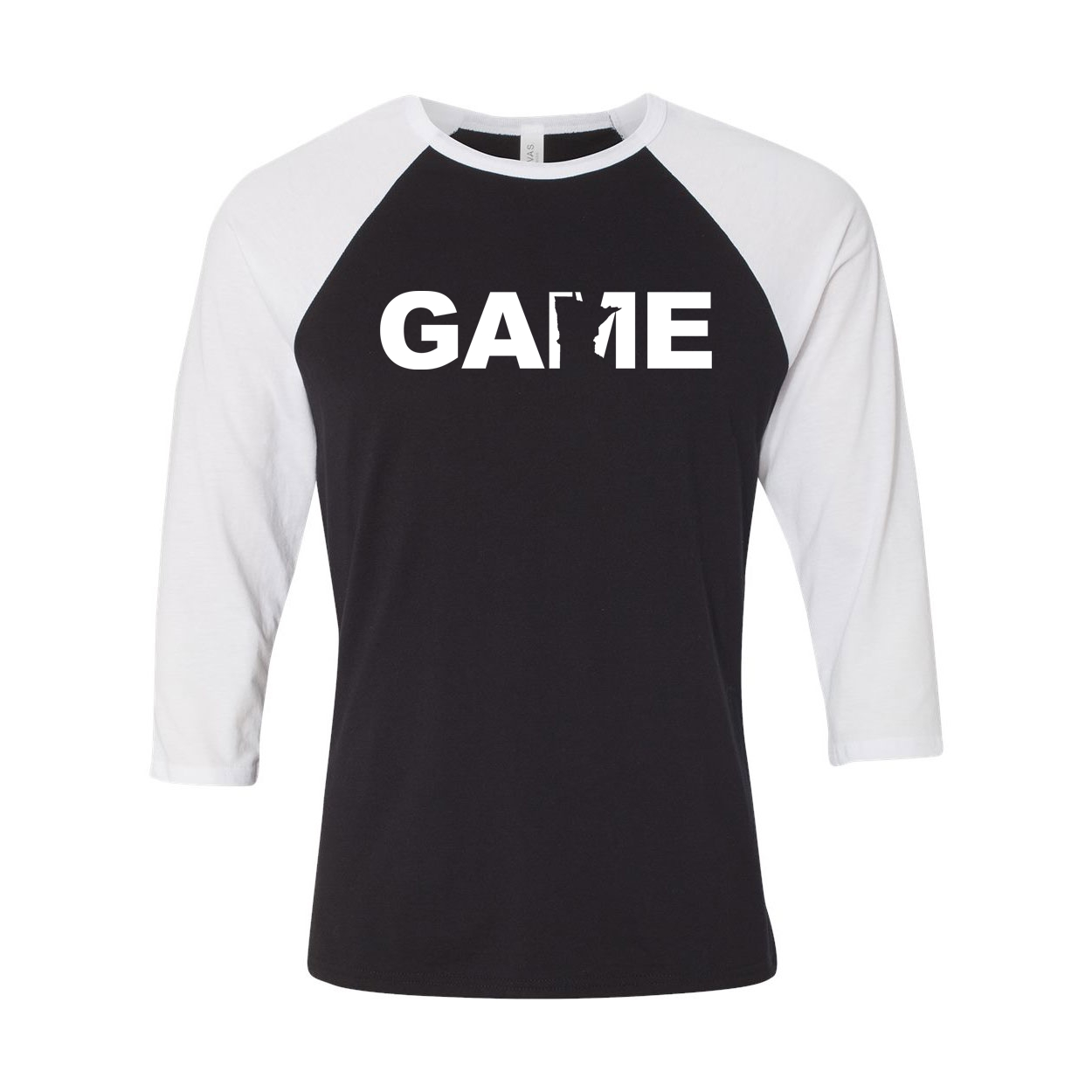 Game Minnesota Classic Raglan Shirt Black/White (White Logo)