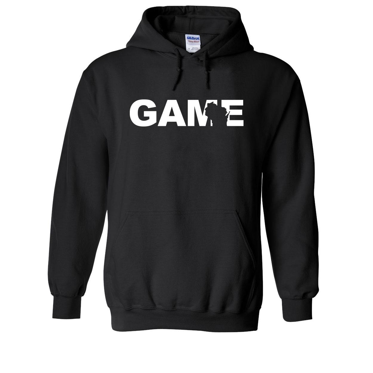 Game Wisconsin Classic Sweatshirt Black (White Logo)