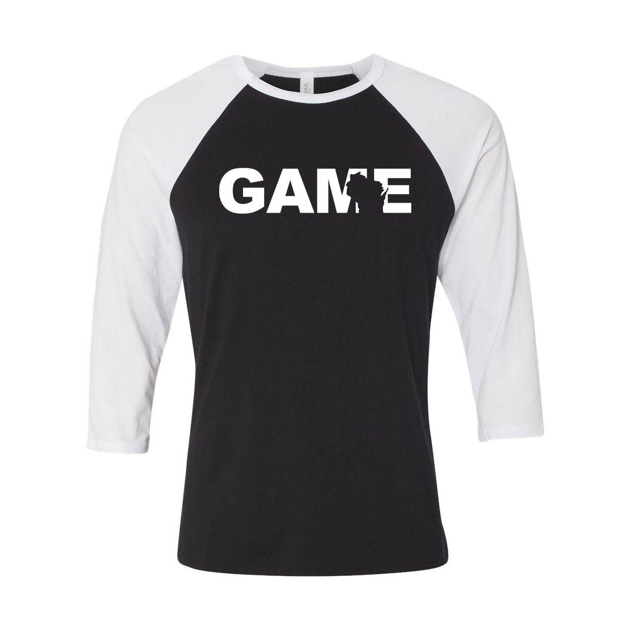 Game Wisconsin Classic Raglan Shirt Black/White (White Logo)