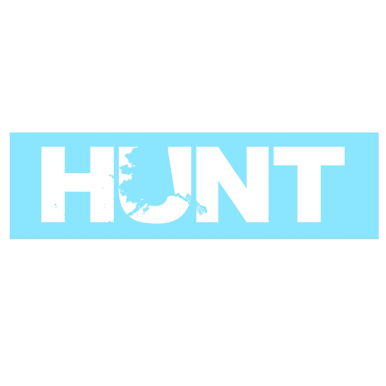 Hunt Alaska Classic Decal (White Logo)