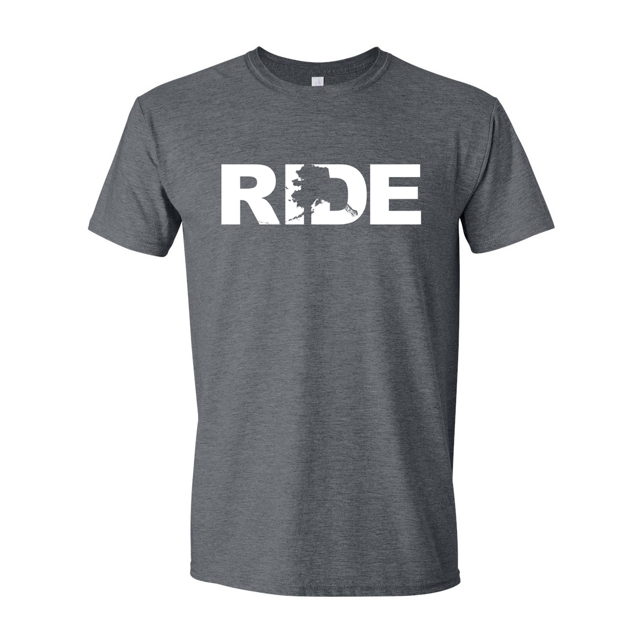 Ride Alaska Classic T-Shirt Dark Heather Gray (White Logo)