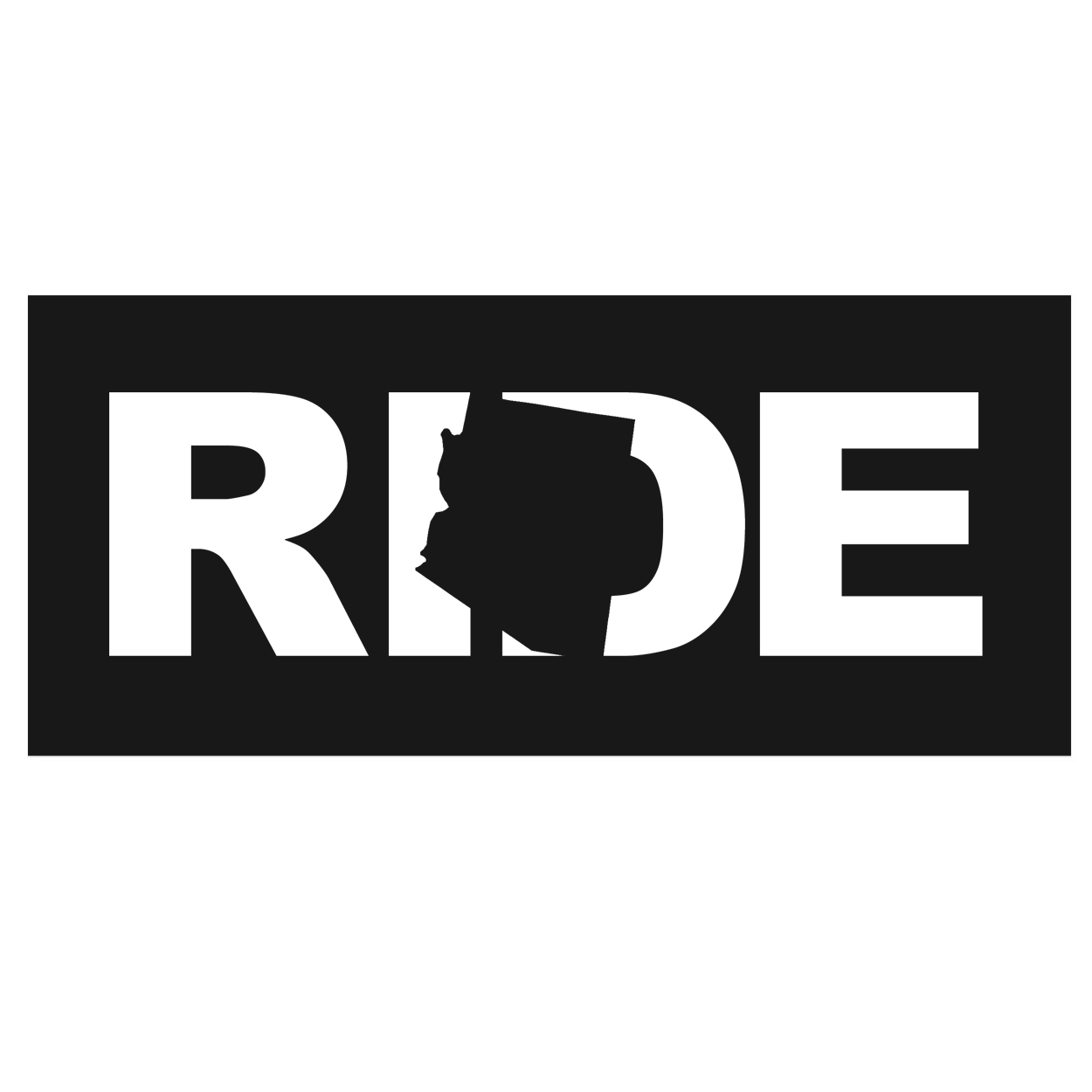 Ride Arizona Classic Hardboard Sign (White Logo)
