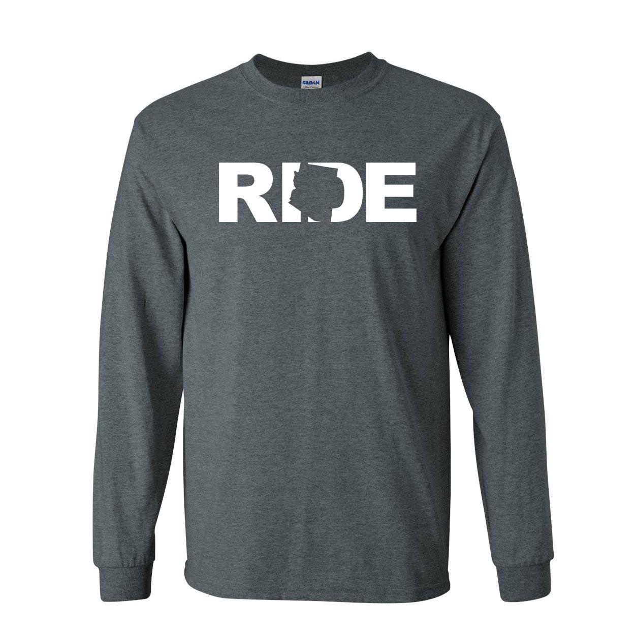 Ride Arizona Classic Long Sleeve T-Shirt Dark Heather (White Logo)