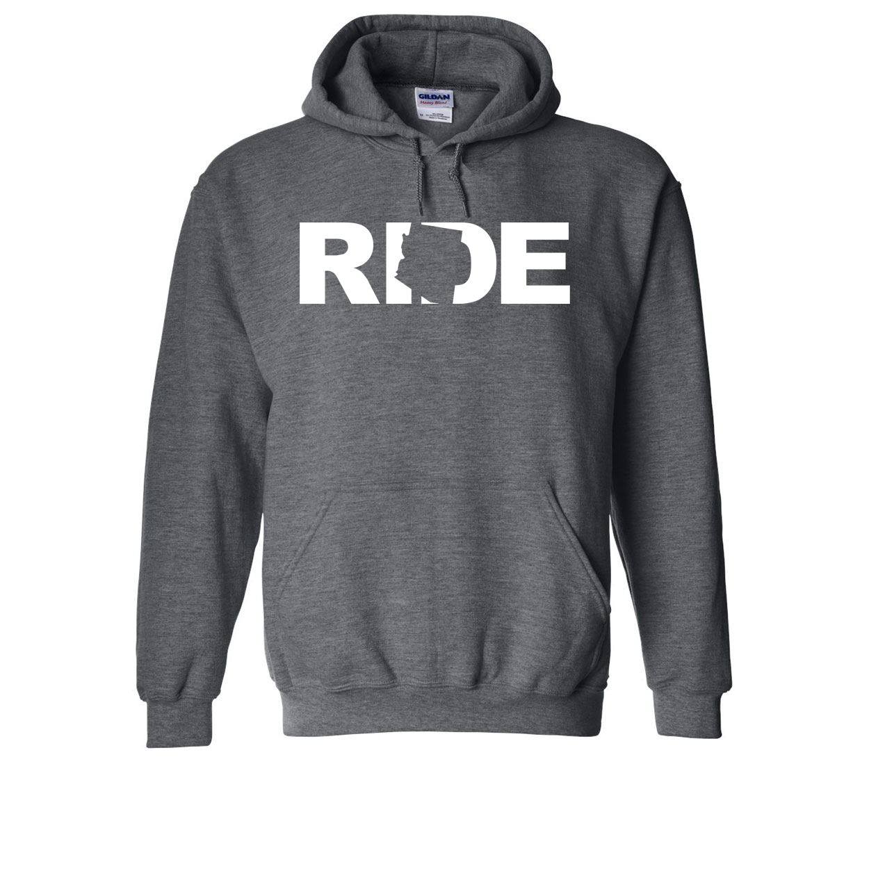 Ride Arizona Classic Sweatshirt Dark Heather Gray (White Logo)