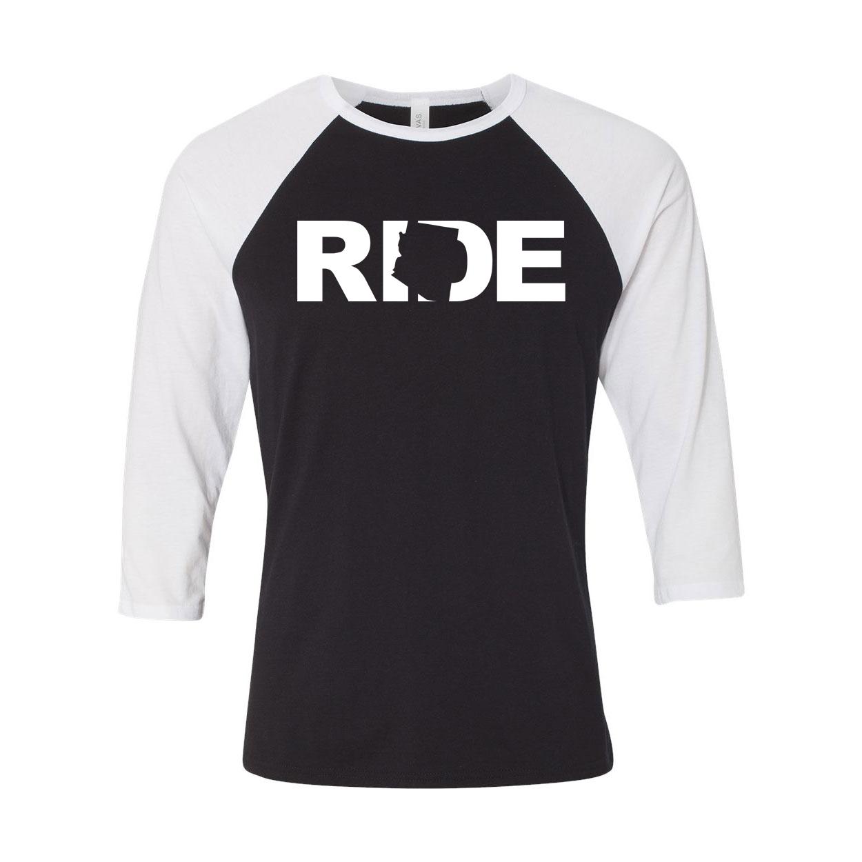 Ride Arizona Classic Raglan Shirt Black/White (White Logo)