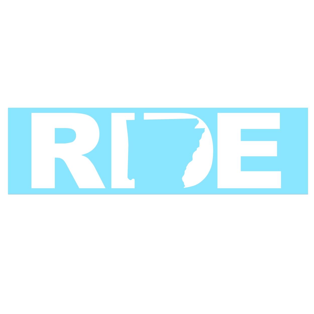 Ride Arkansas Classic Decal (White Logo)