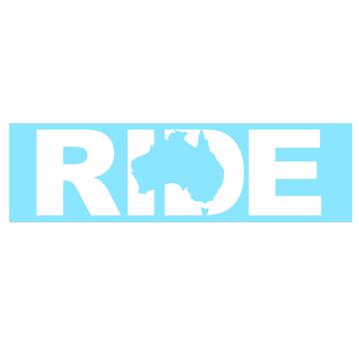 Ride Australia Classic Decal (White Logo)