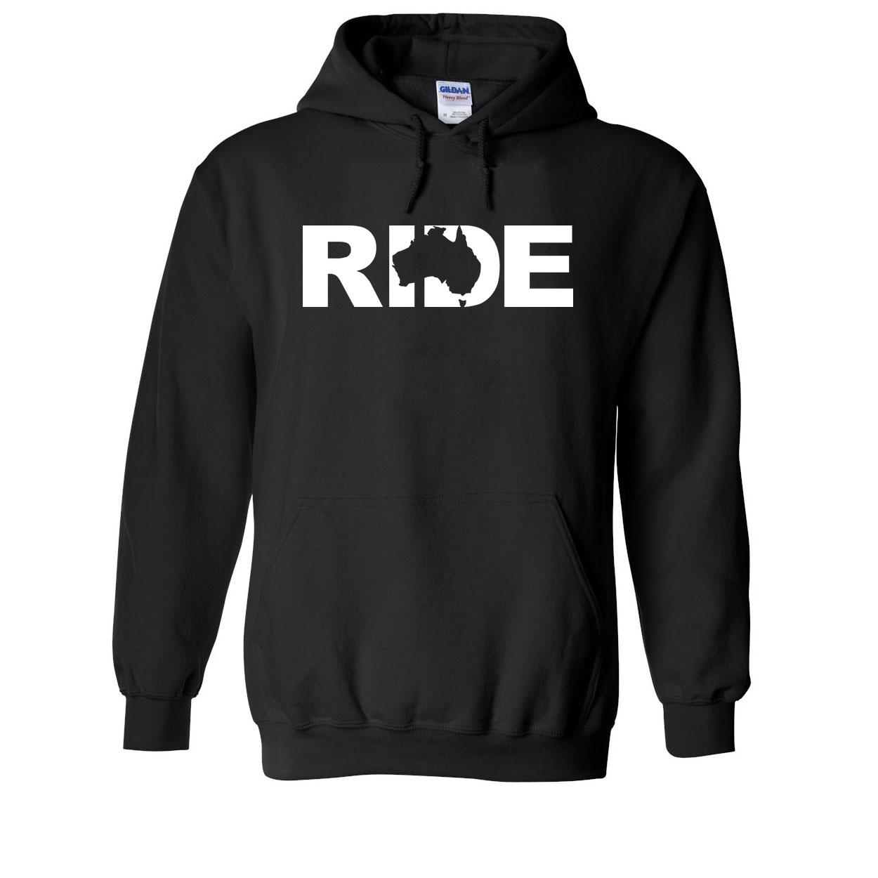 Ride Australia Classic Sweatshirt Black (White Logo)