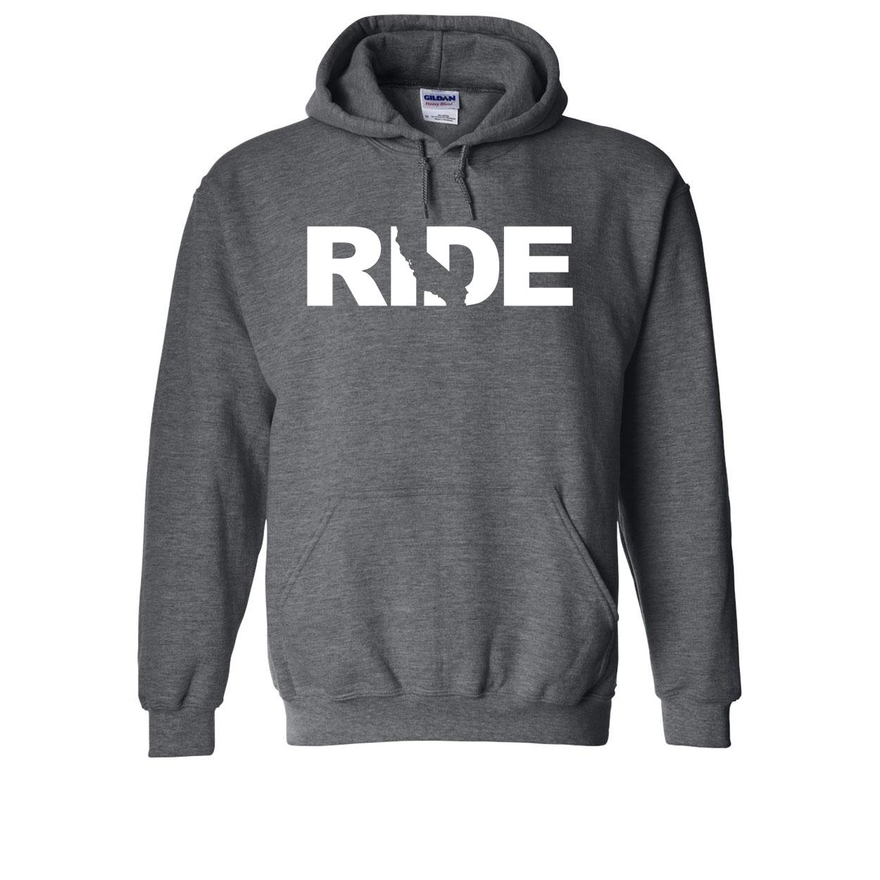 Ride California Classic Sweatshirt Dark Heather Gray (White Logo)