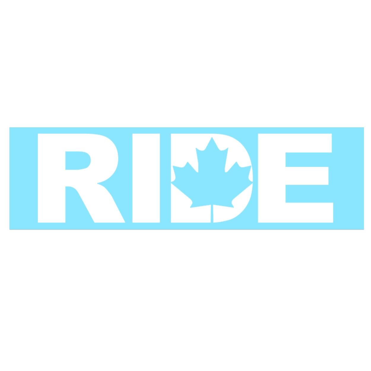 Ride Canada Classic Decal (White Logo)