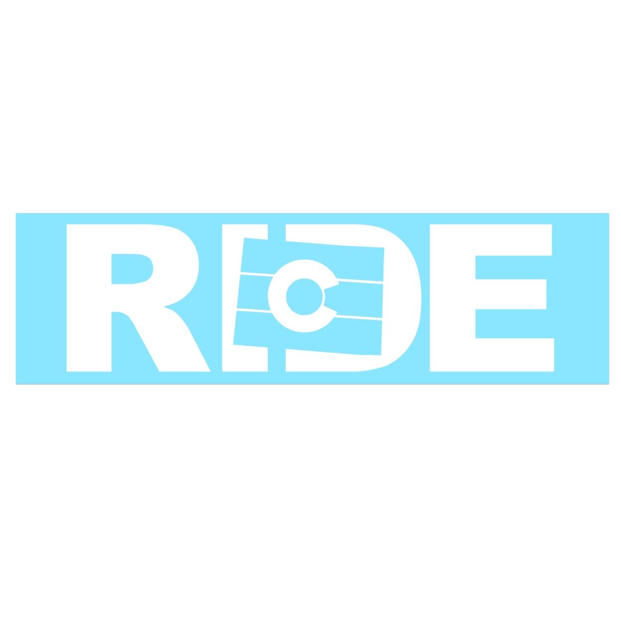Ride Colorado Classic Decal (White Logo)