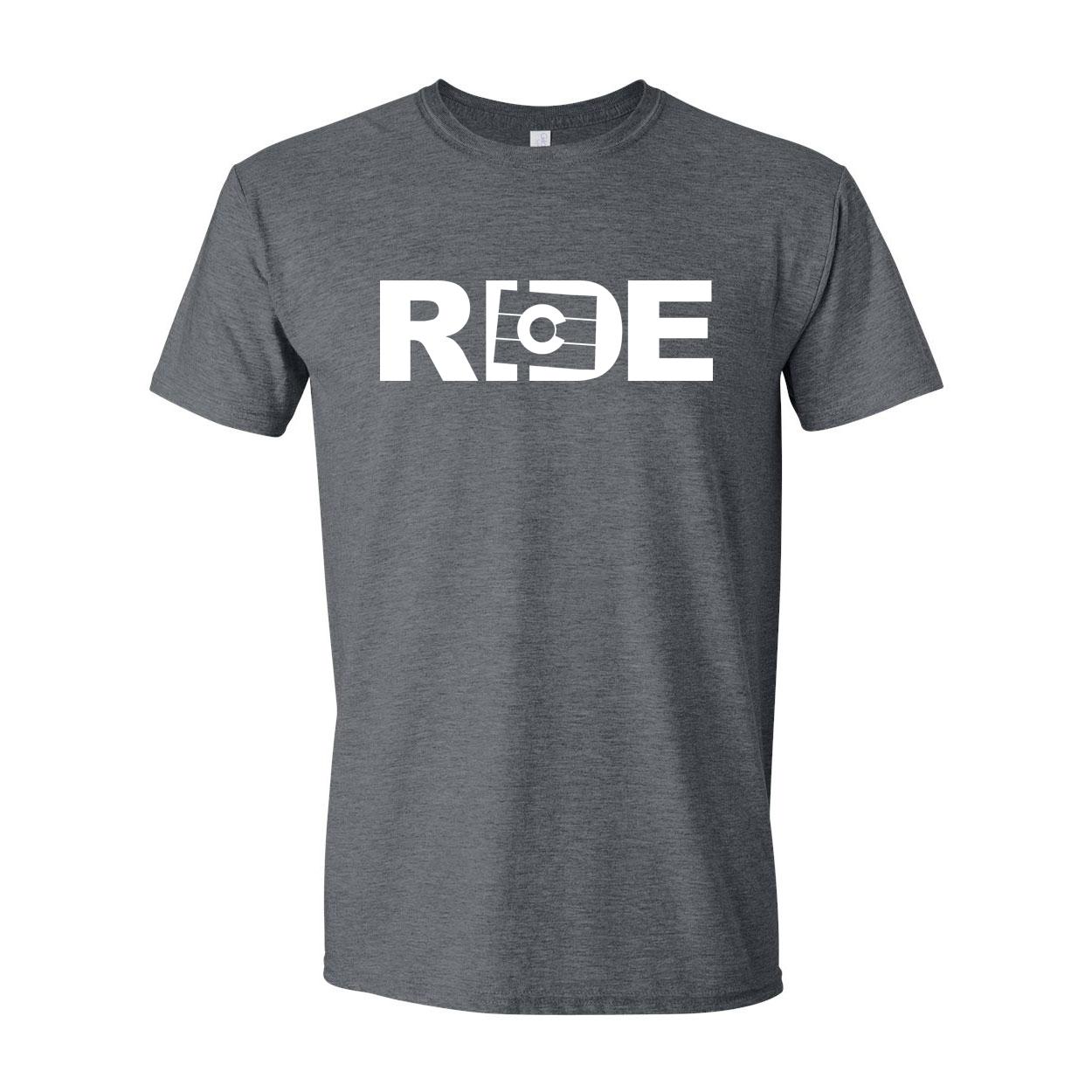 Ride Colorado Classic T-Shirt Dark Heather Gray (White Logo)