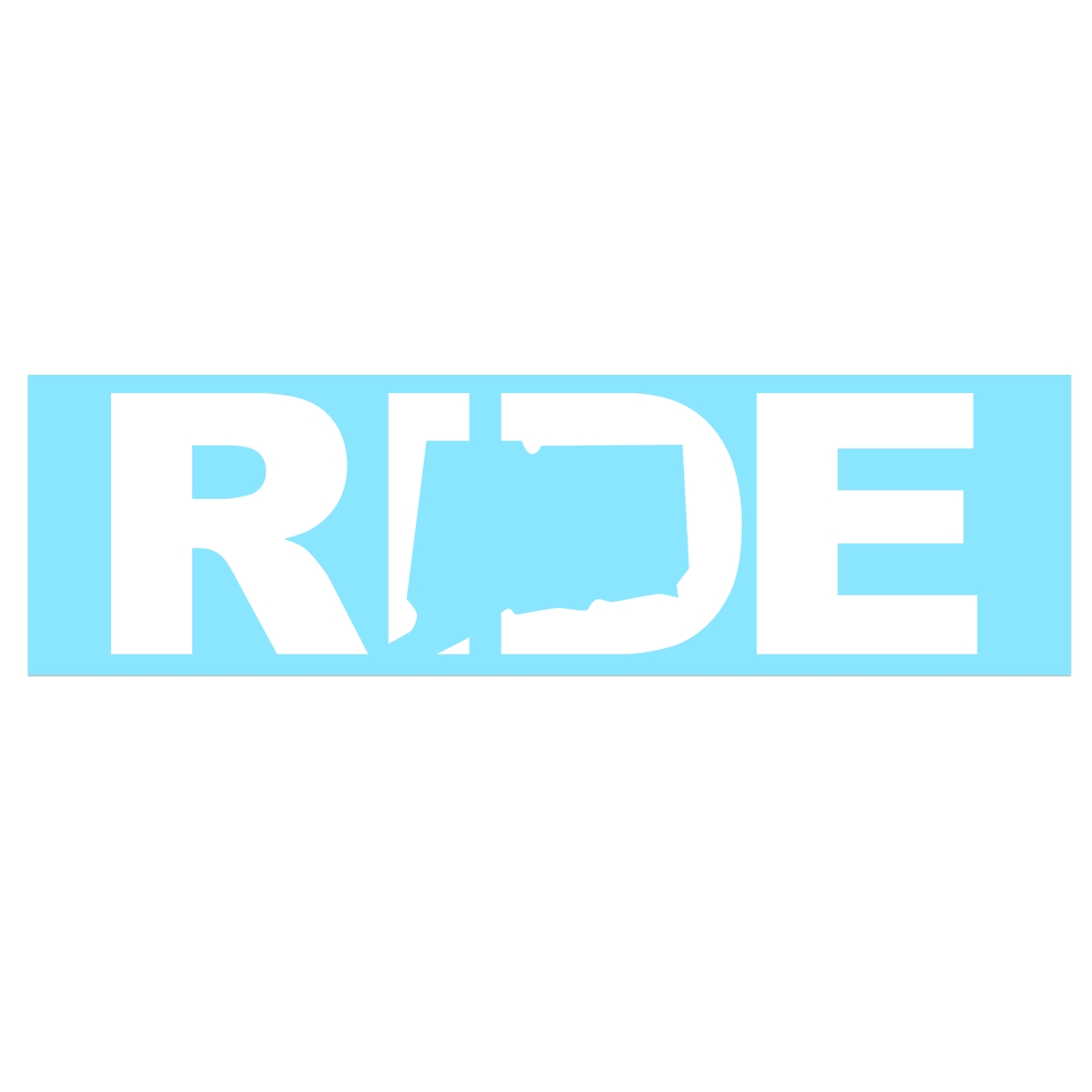 Ride Connecticut Classic Decal (White Logo)