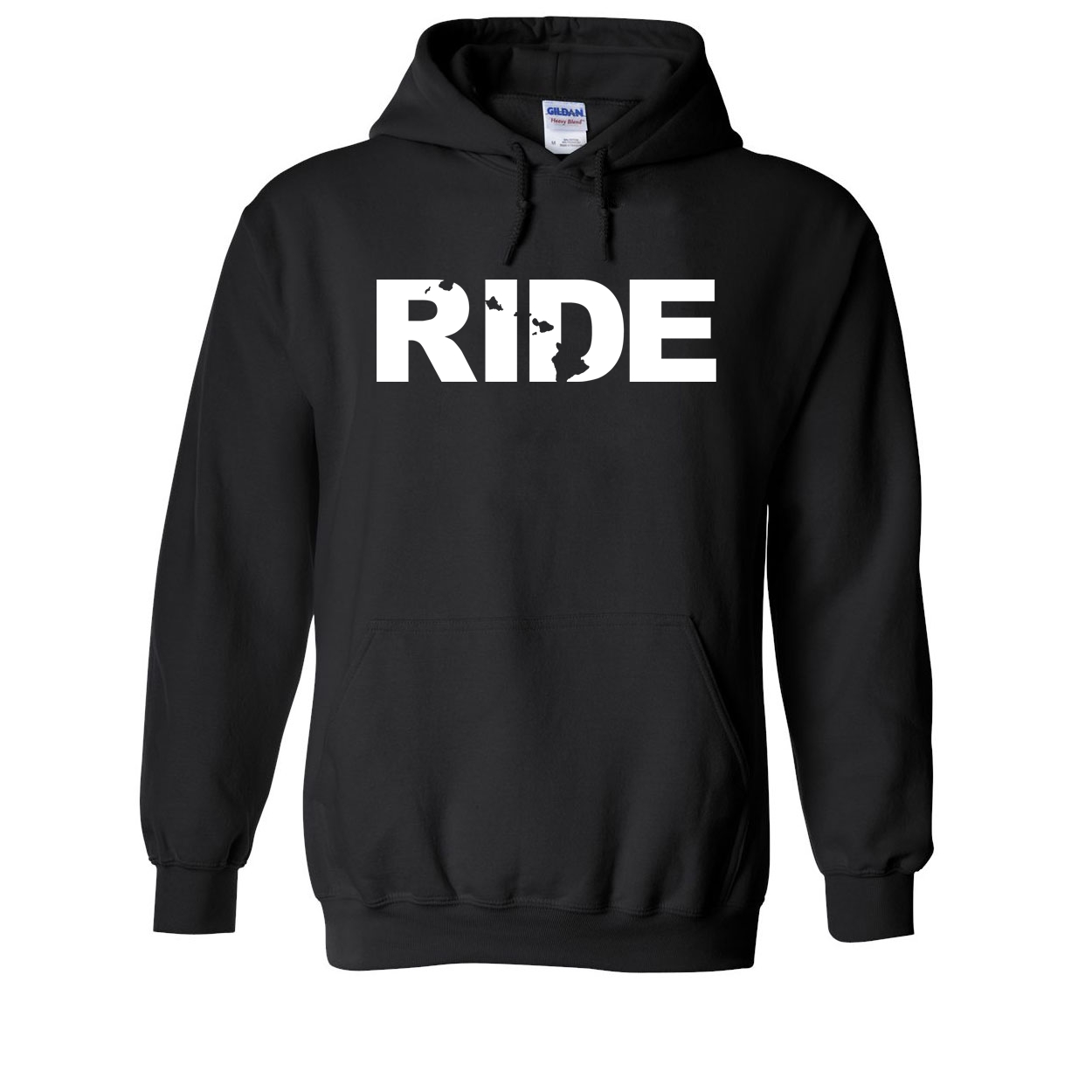 Ride Hawaii Classic Sweatshirt Black (White Logo)