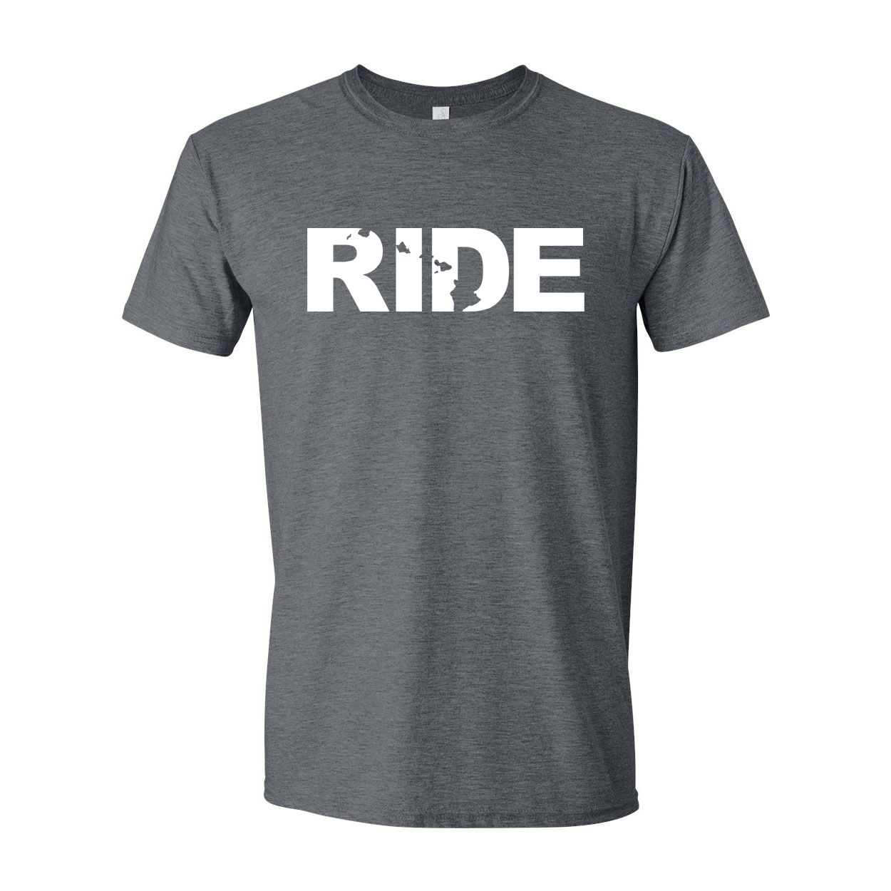 Ride Hawaii Classic T-Shirt Dark Heather Gray (White Logo)