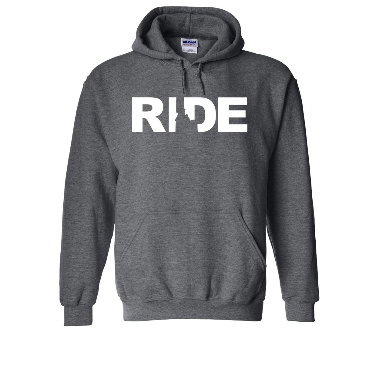 Ride Idaho Classic Sweatshirt Dark Heather Gray (White Logo)