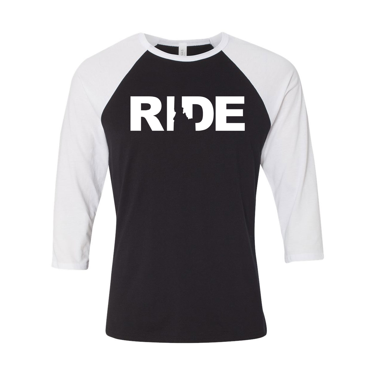 Ride Idaho Classic Raglan Shirt Black/White (White Logo)