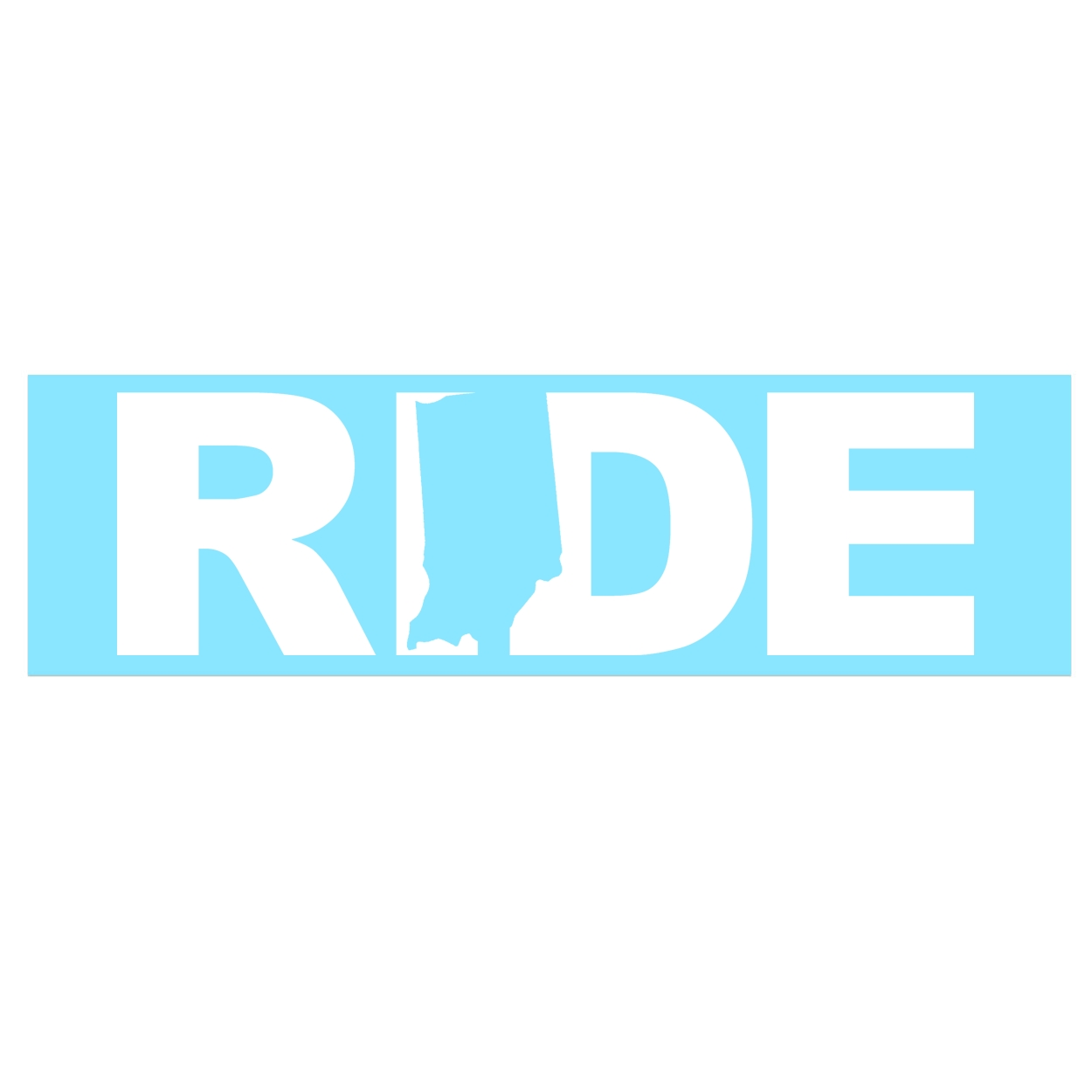 Ride Indiana Classic Decal (White Logo)