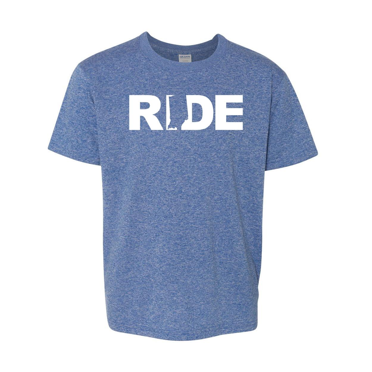 Ride Indiana Classic Youth T-Shirt Blue (White Logo)