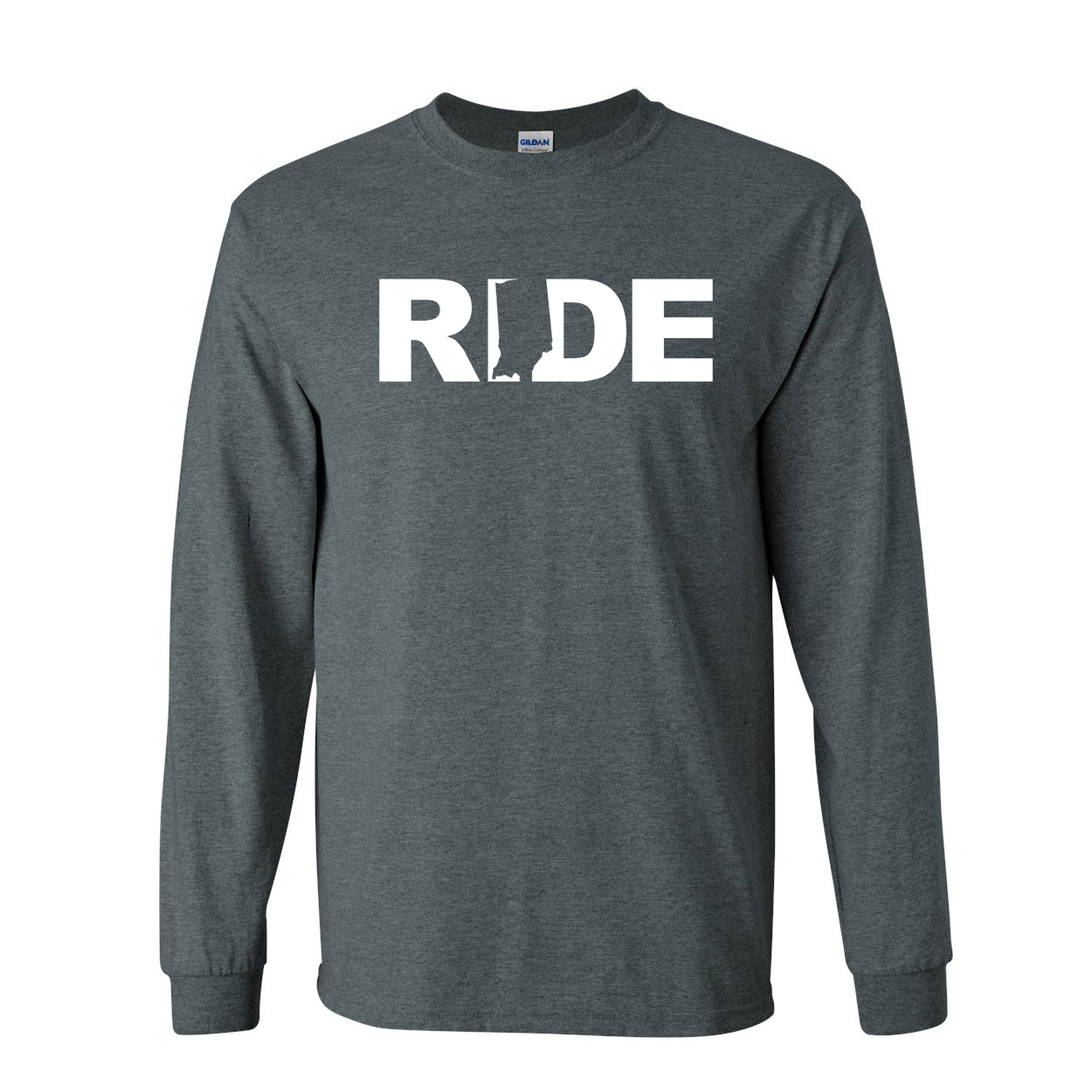 Ride Indiana Classic Long Sleeve T-Shirt Dark Heather (White Logo)