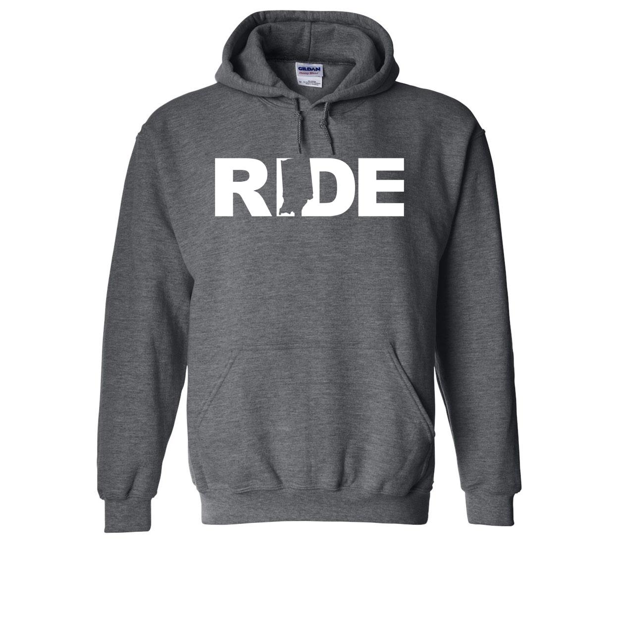 Ride Indiana Classic Sweatshirt Dark Heather Gray (White Logo)