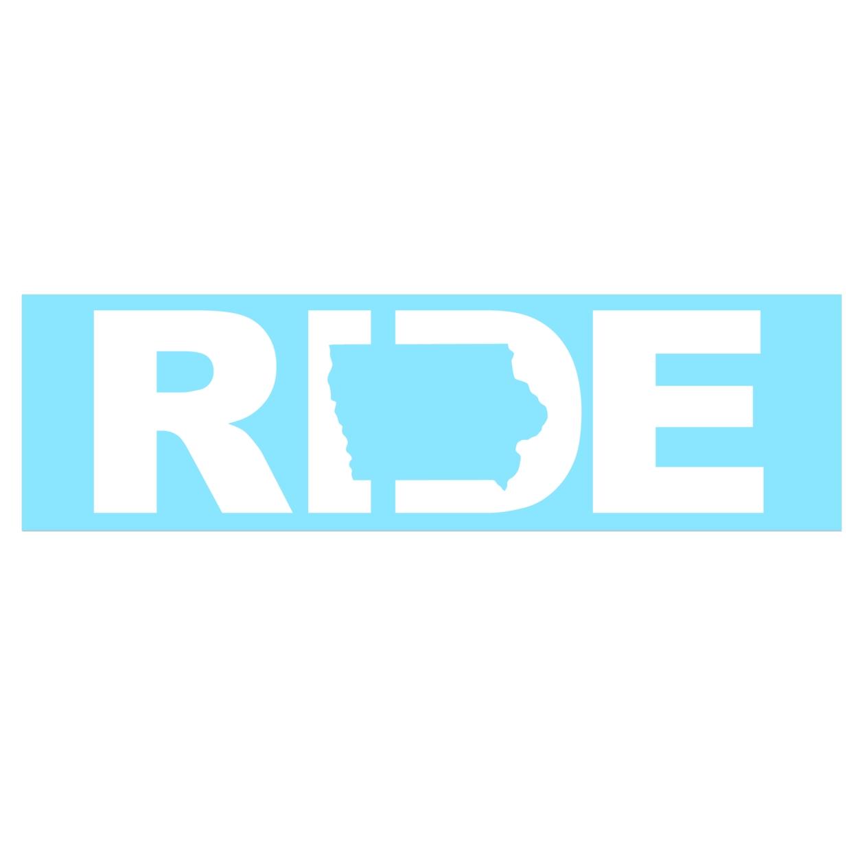 Ride Iowa Classic Decal (White Logo)