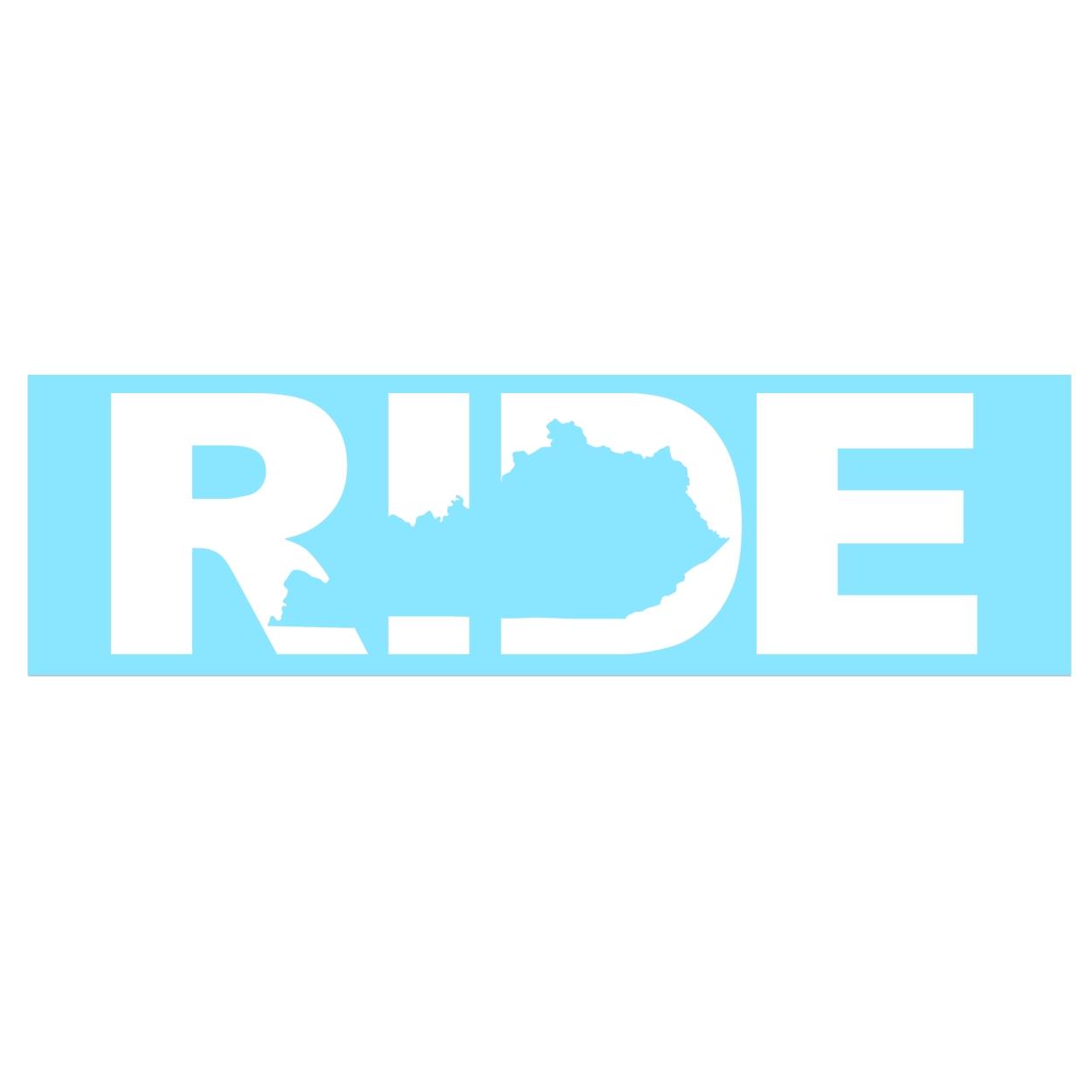 Ride Kentucky Classic Decal (White Logo)