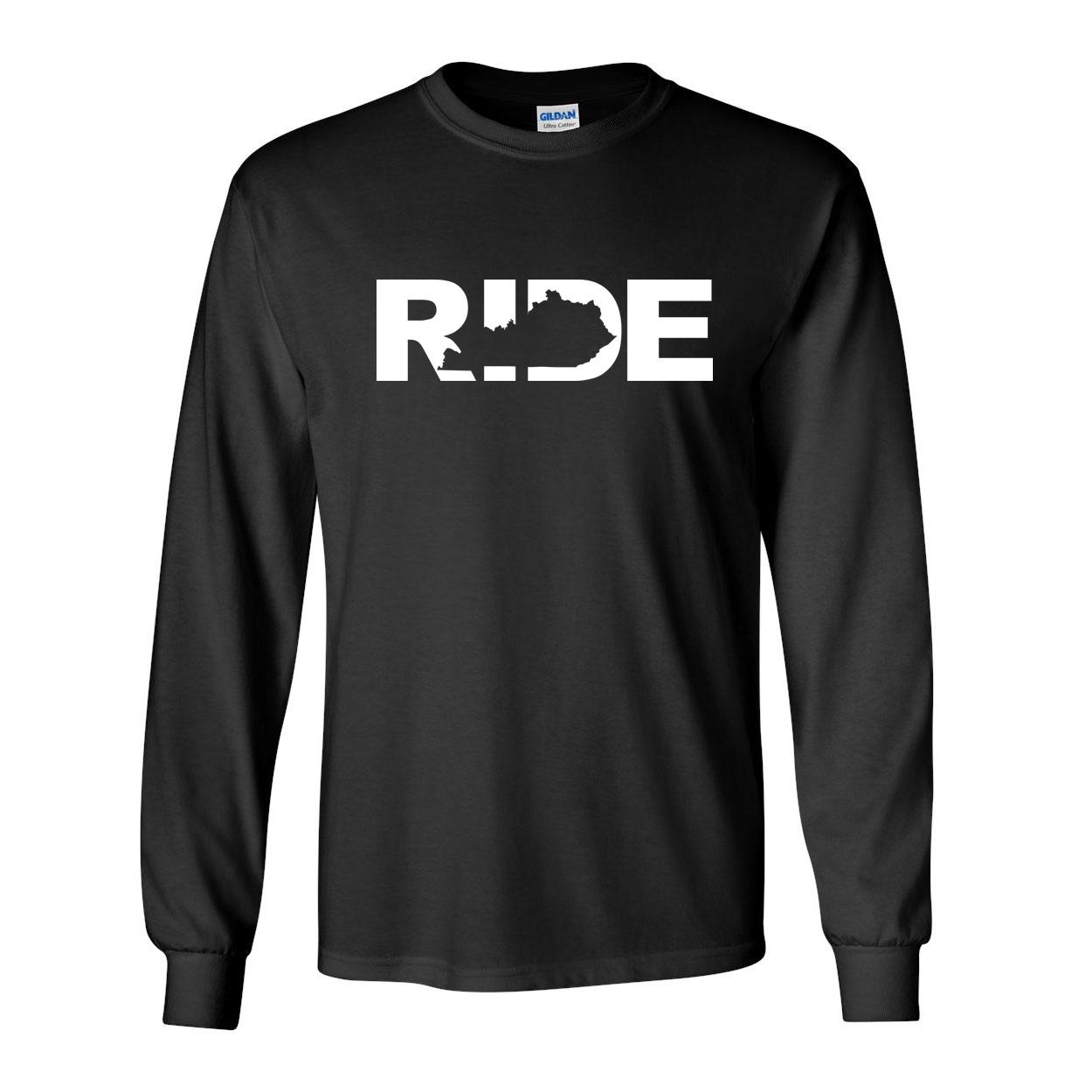 Ride Kentucky Classic Long Sleeve T-Shirt Black (White Logo)