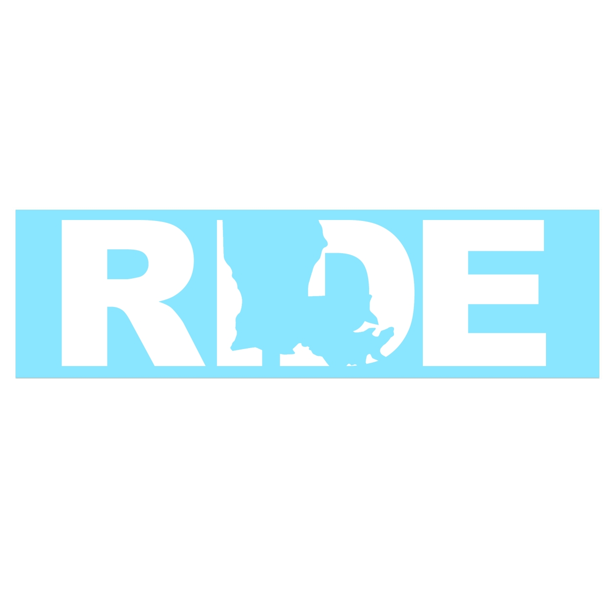 Ride Louisiana Classic Decal (White Logo)