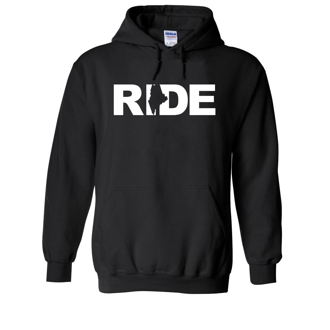 Ride Maine Classic Sweatshirt Black (White Logo)