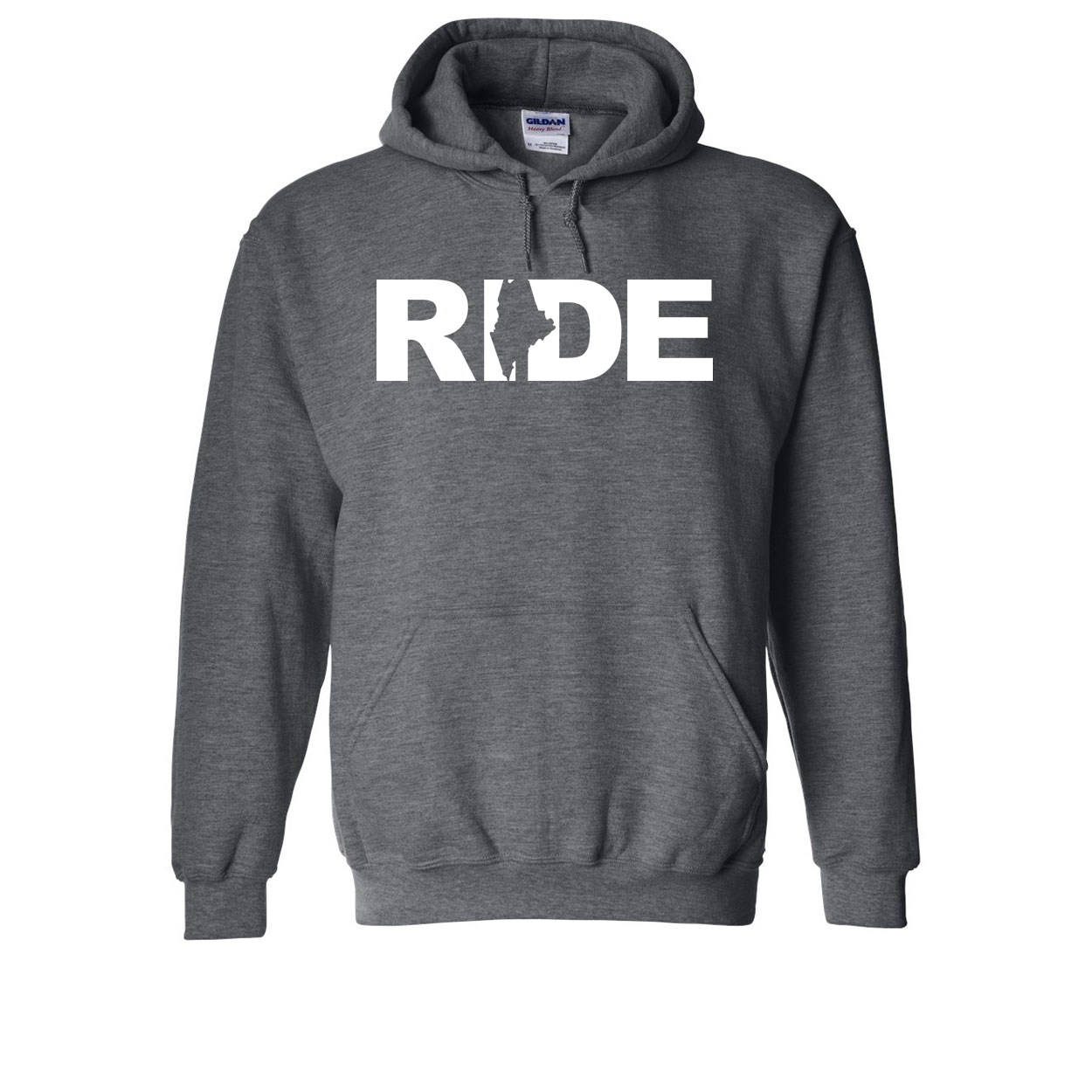 Ride Maine Classic Sweatshirt Dark Heather Gray (White Logo)